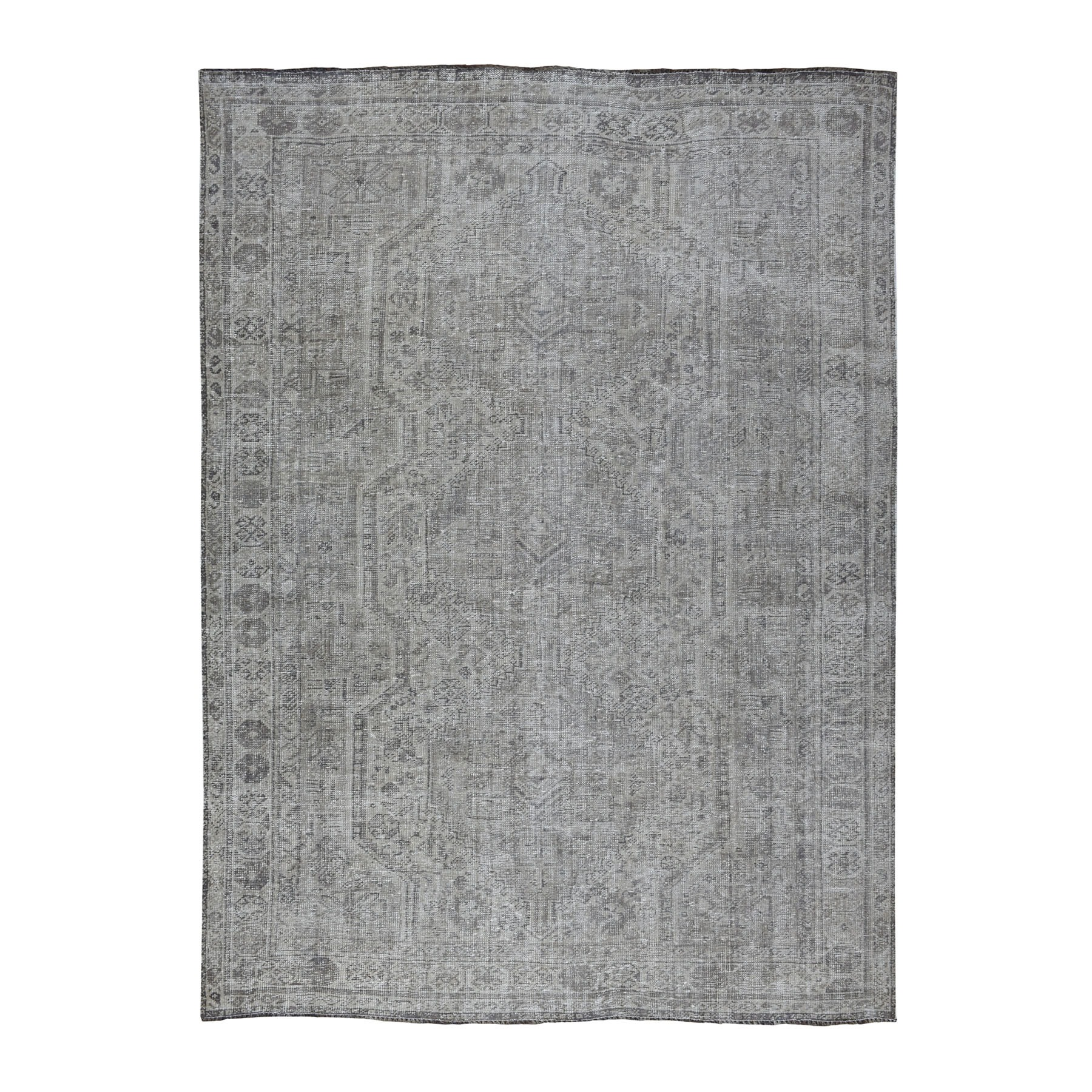 Fetneh Collection And Vintage Overdyed Collection Hand Knotted Grey Rug No: 01108068