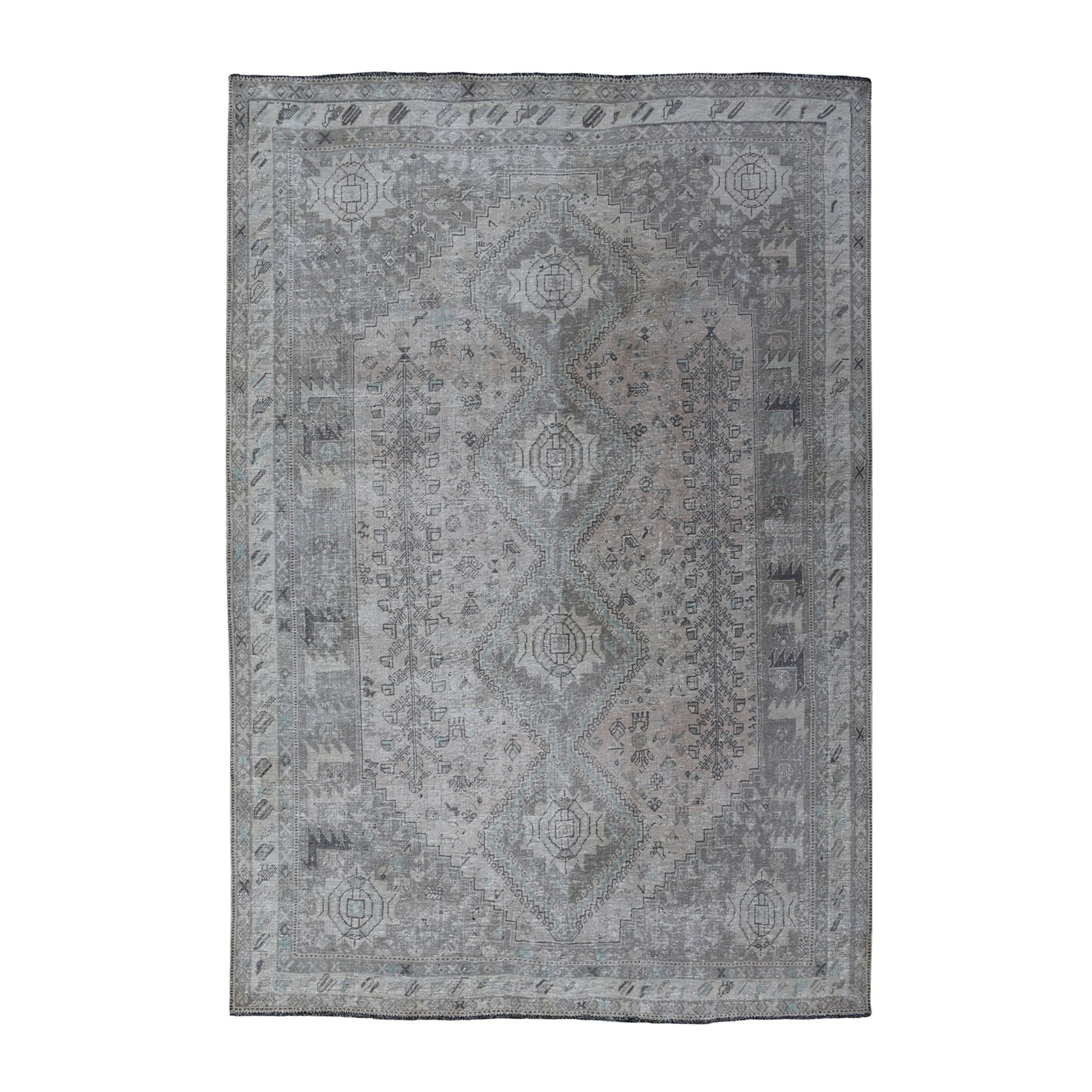 Fetneh Collection And Vintage Overdyed Collection Hand Knotted Ivory Rug No: 01108074