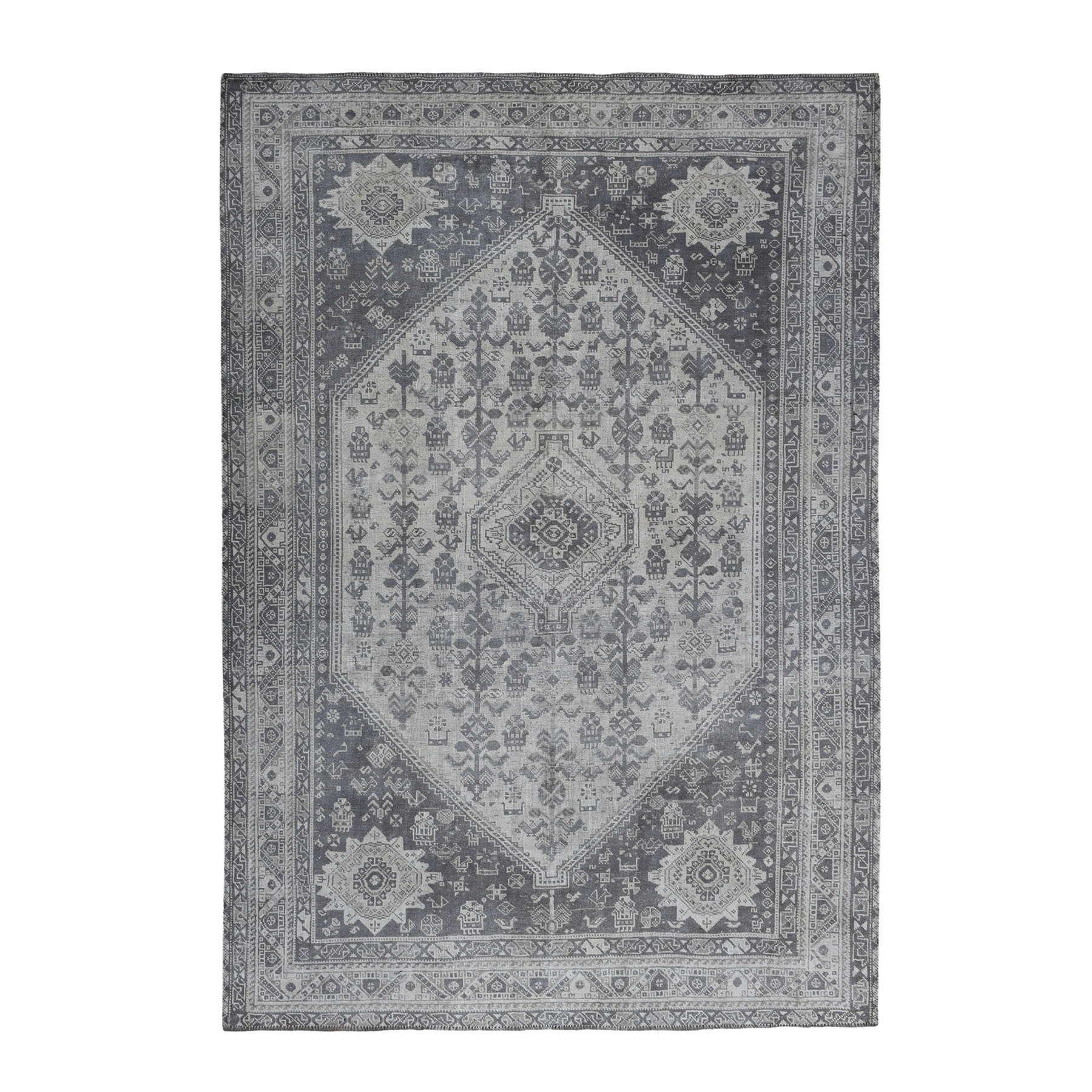 Fetneh Collection And Vintage Overdyed Collection Hand Knotted Ivory Rug No: 01108080