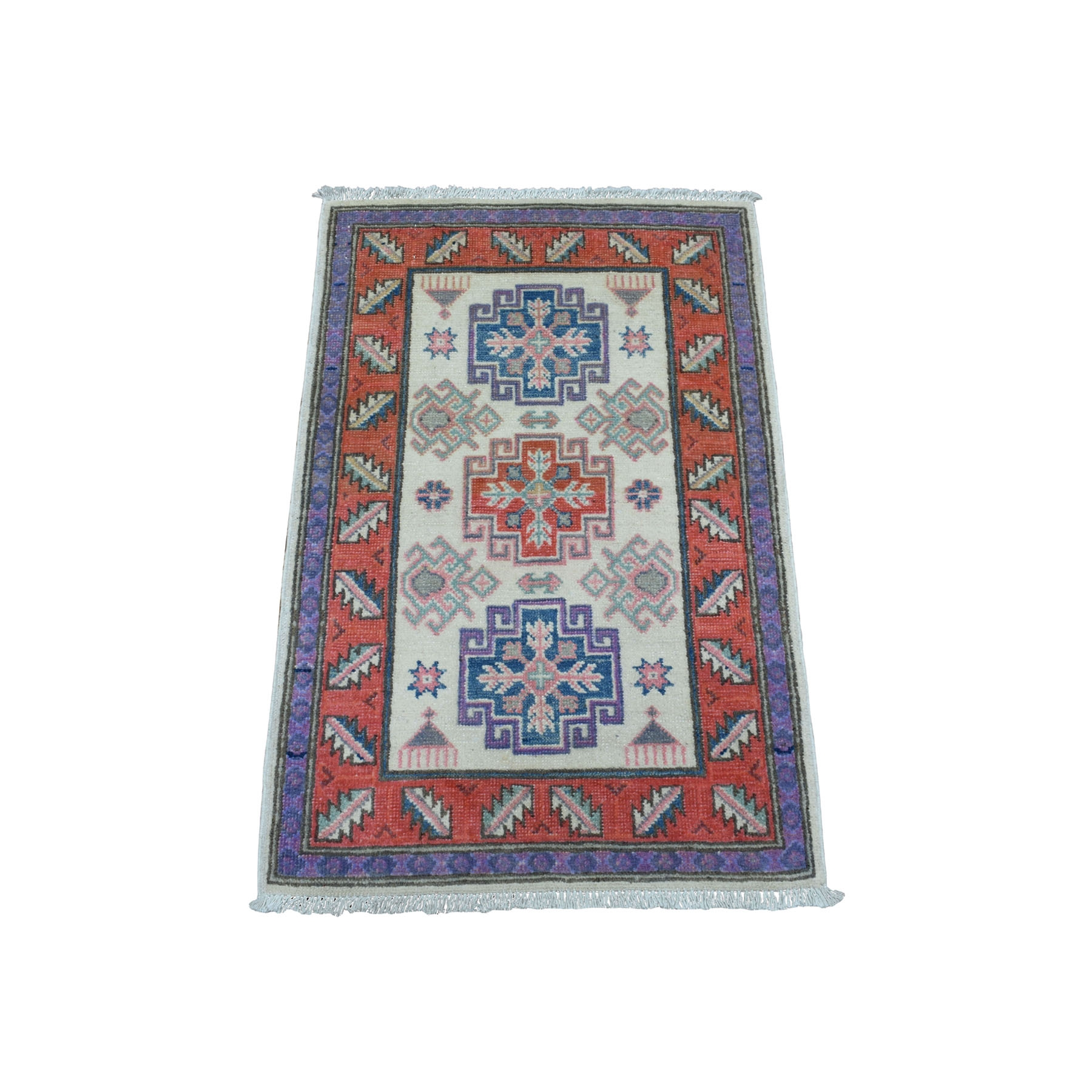 Caucasian Collection Hand Knotted Ivory Rug No: 01108336