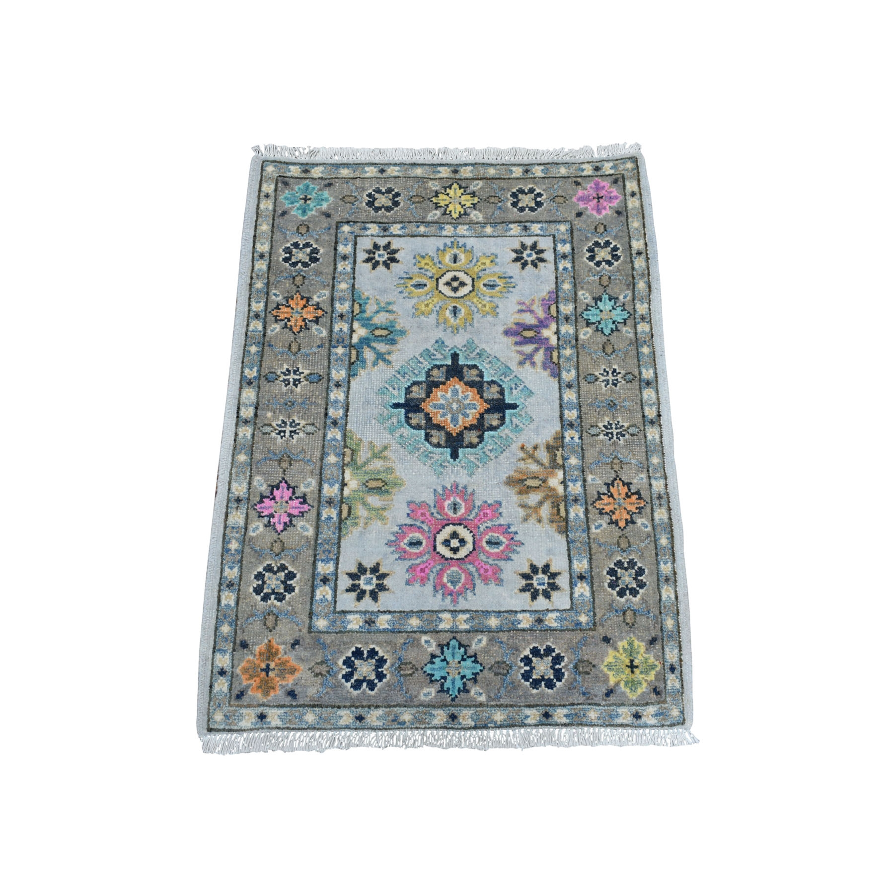 Caucasian Collection Hand Knotted Ivory Rug No: 01108342