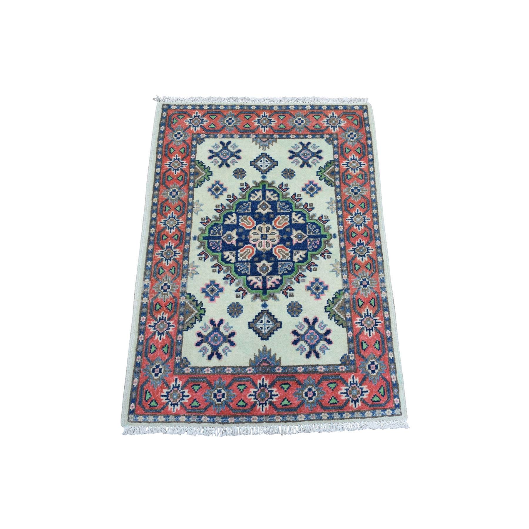Caucasian Collection Hand Knotted Ivory Rug No: 01108348