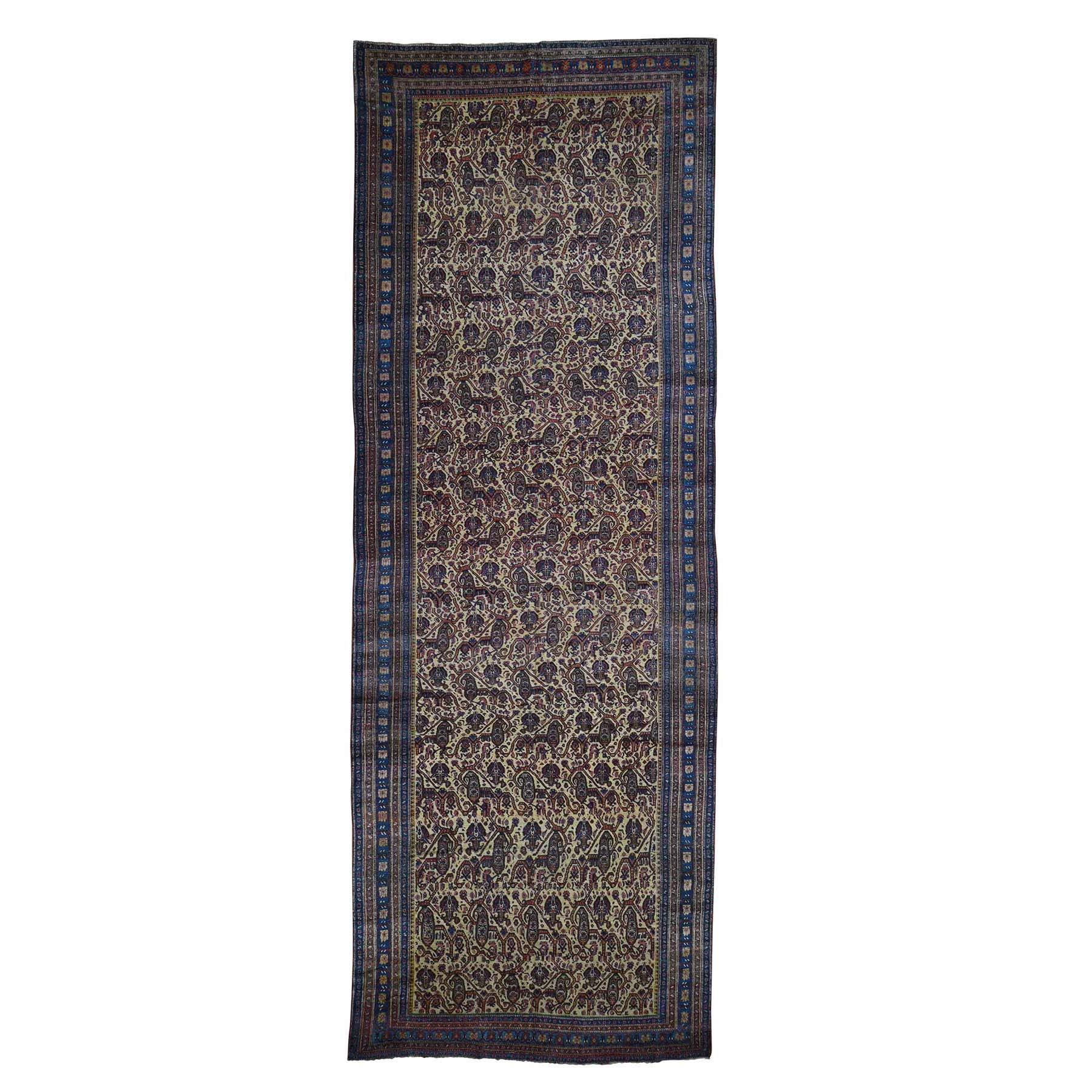 Antique Collection Hand Knotted Yellow Rug No: 186278