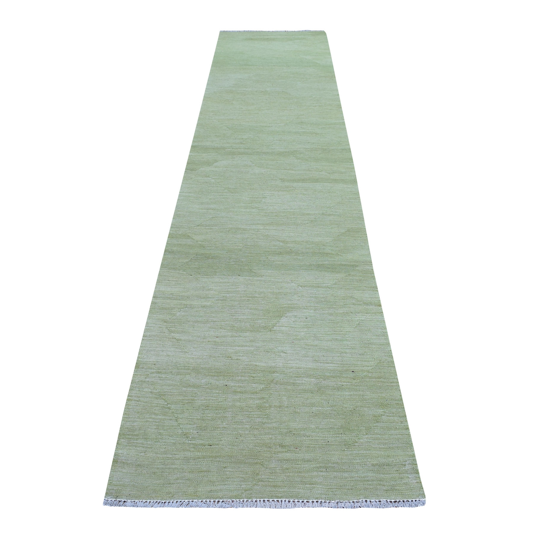 Fine Kilim Collection Hand Woven Green Rug No: 01107668