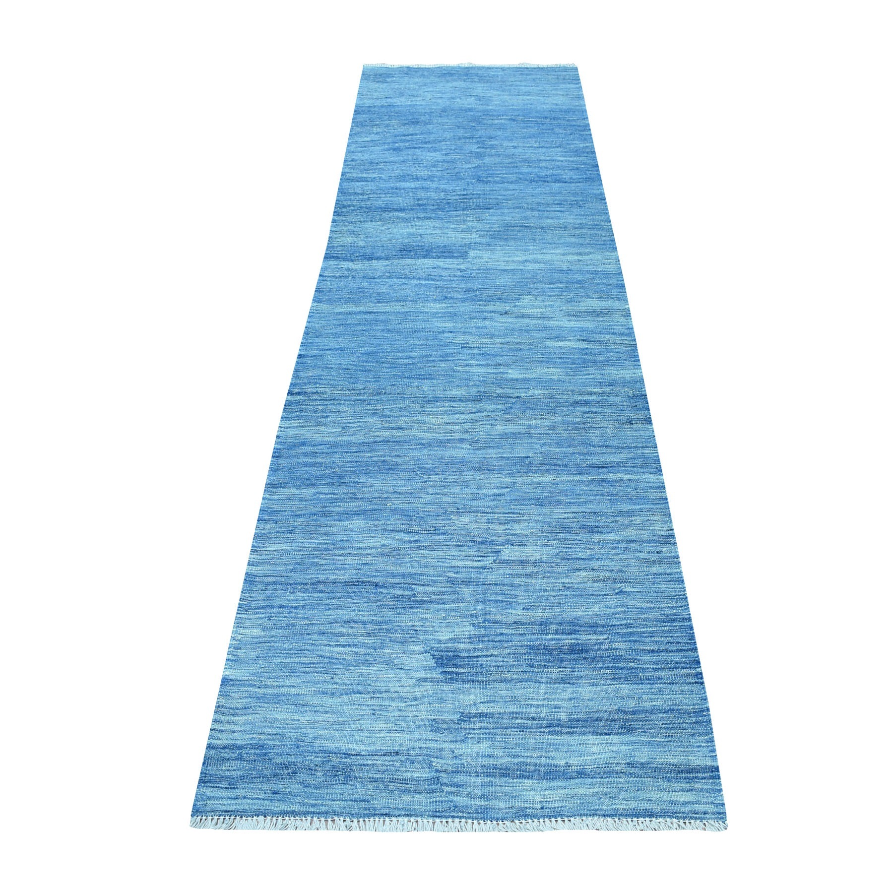 Fine Kilim Collection Hand Woven Blue Rug No: 01107676