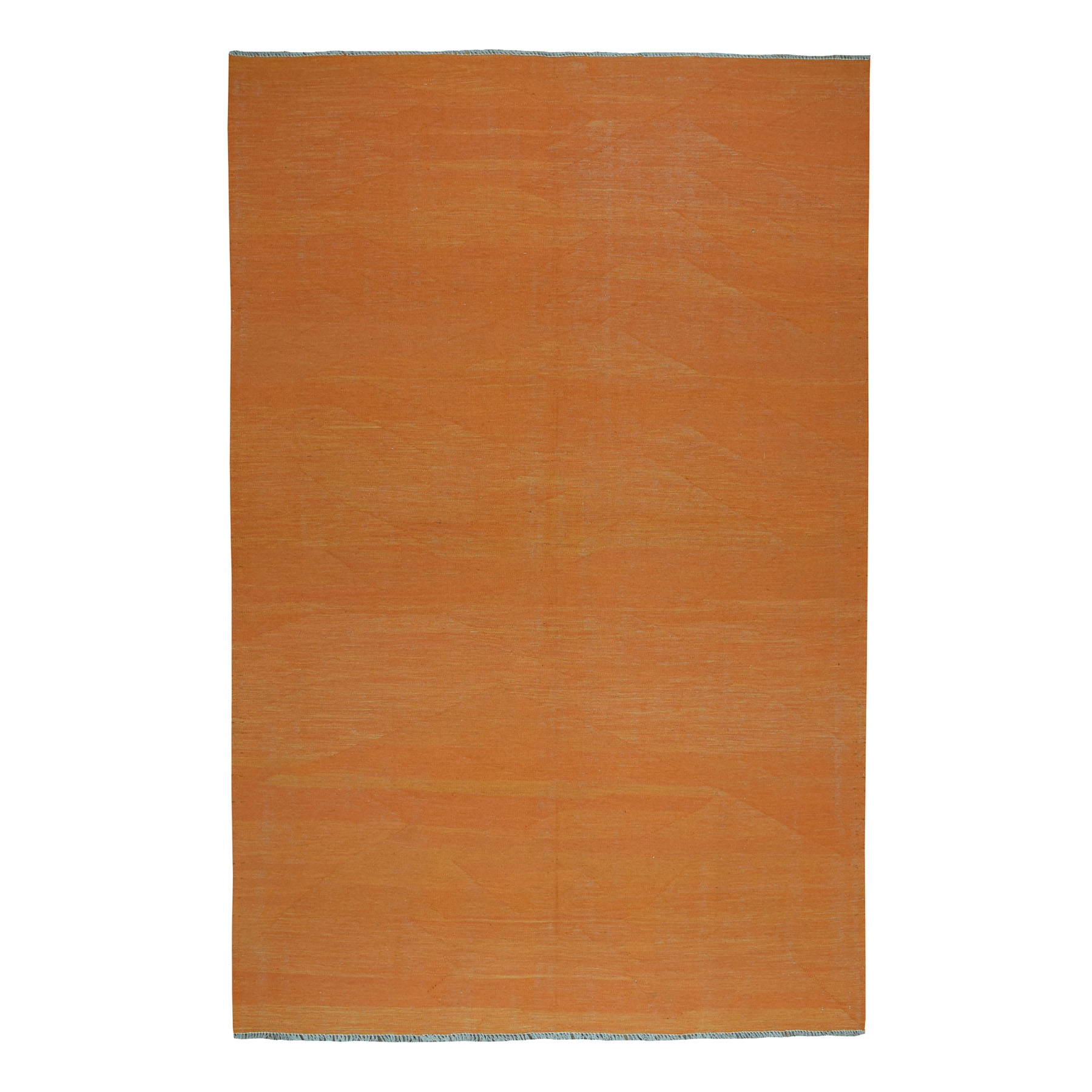 Fine Kilim Collection Hand Woven Orange Rug No: 01107694