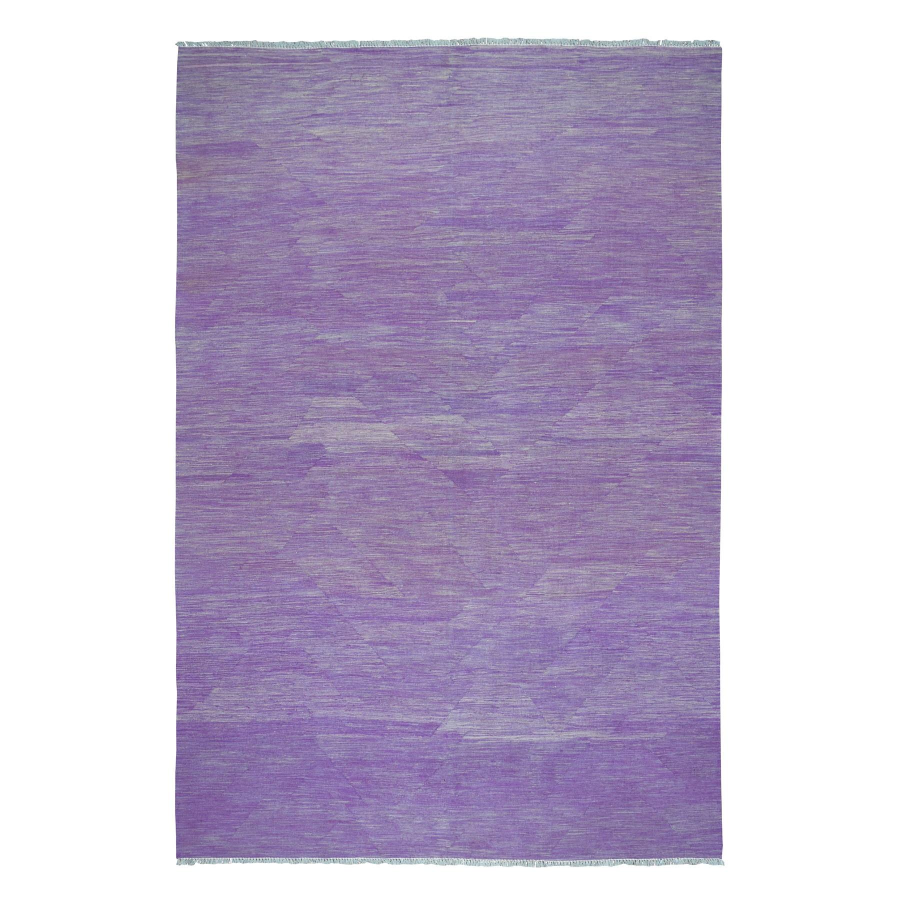 Fine Kilim Collection Hand Woven Purple Rug No: 01108426