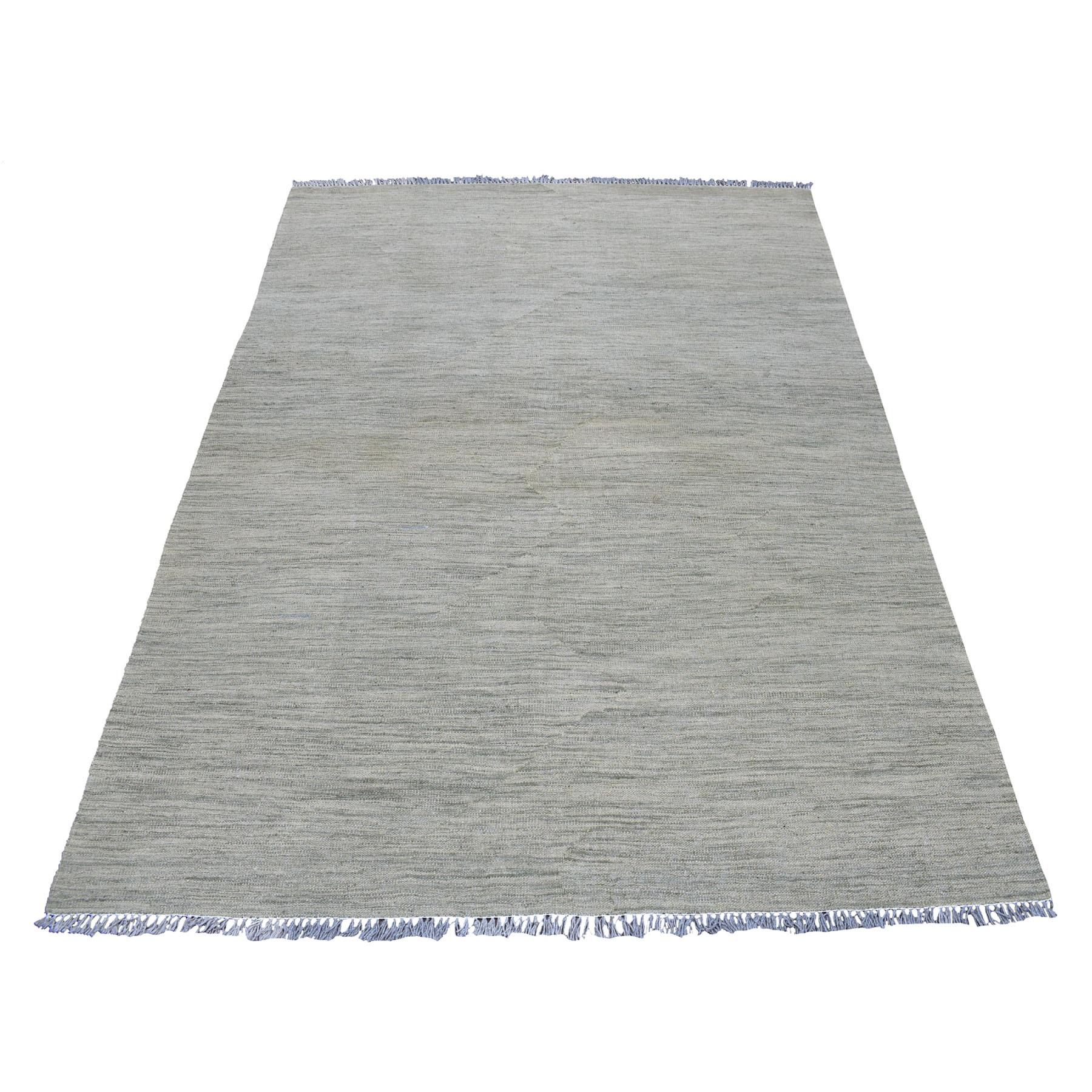 Fine Kilim Collection Hand Woven Grey Rug No: 01108434