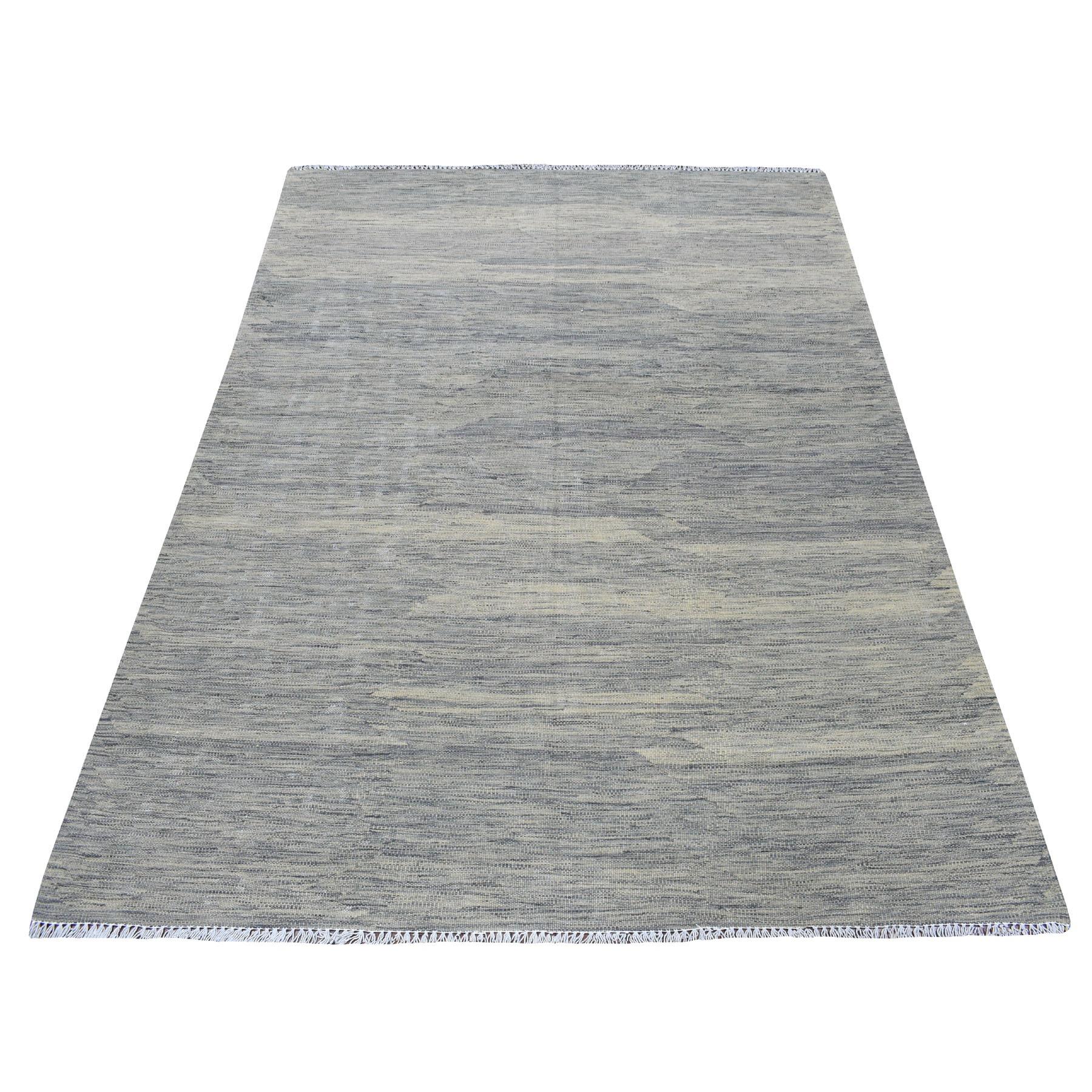 Fine Kilim Collection Hand Woven Grey Rug No: 01108452