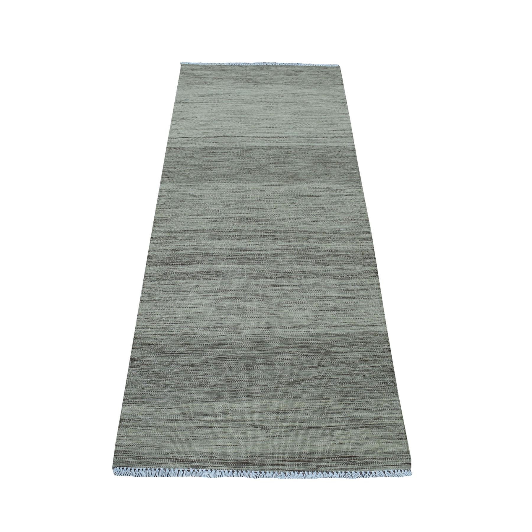 Fine Kilim Collection Hand Woven Grey Rug No: 01107712