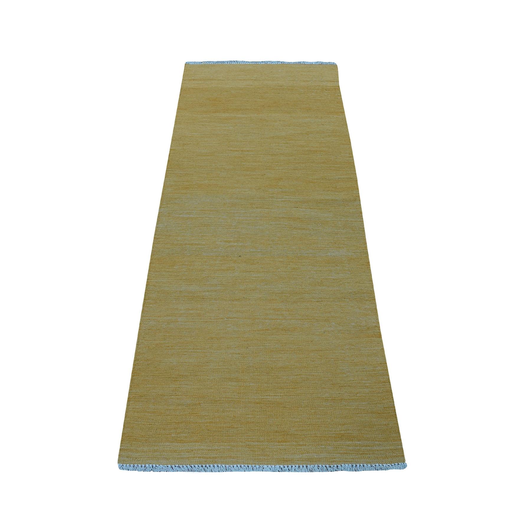 Fine Kilim Collection Hand Woven Yellow Rug No: 01107722