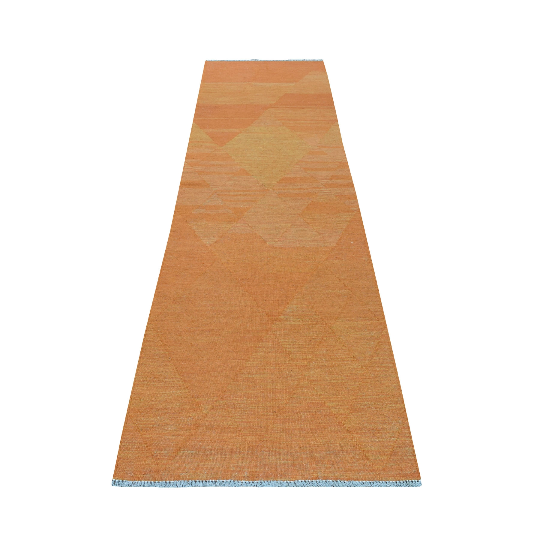 Fine Kilim Collection Hand Woven Orange Rug No: 01107726