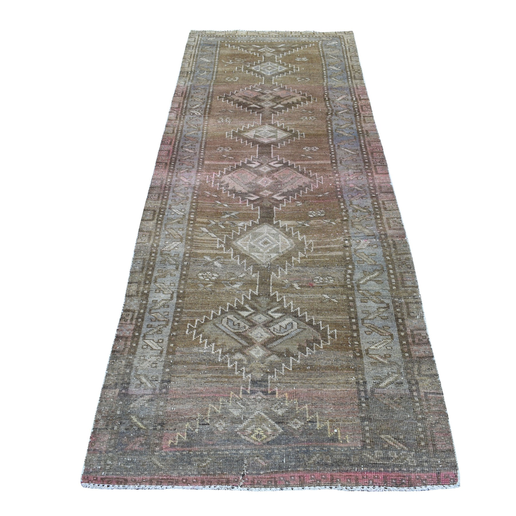 Fetneh Collection And Vintage Overdyed Collection Hand Knotted Grey Rug No: 01108174