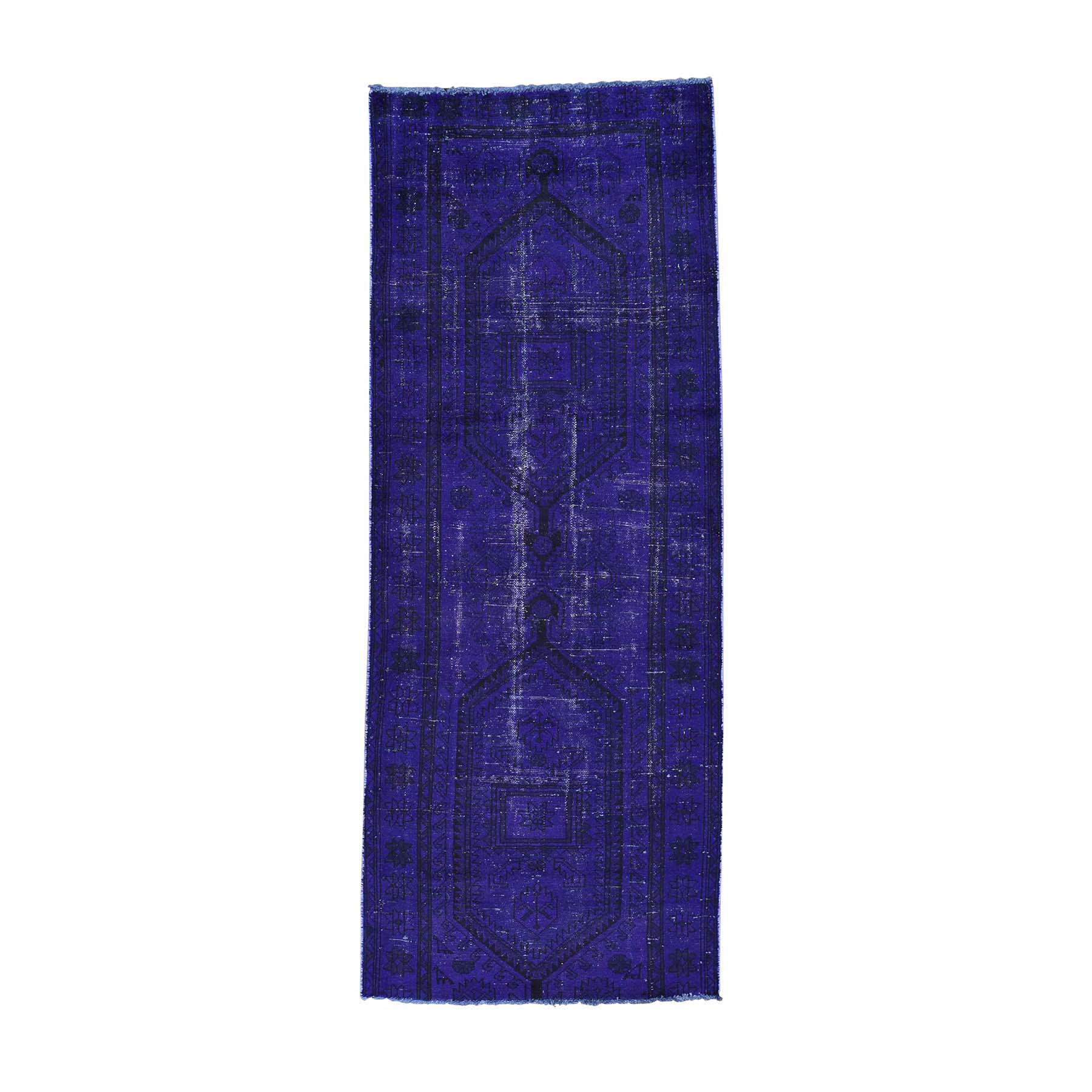 Fetneh Collection And Vintage Overdyed Collection Hand Knotted Purple Rug No: 0161796