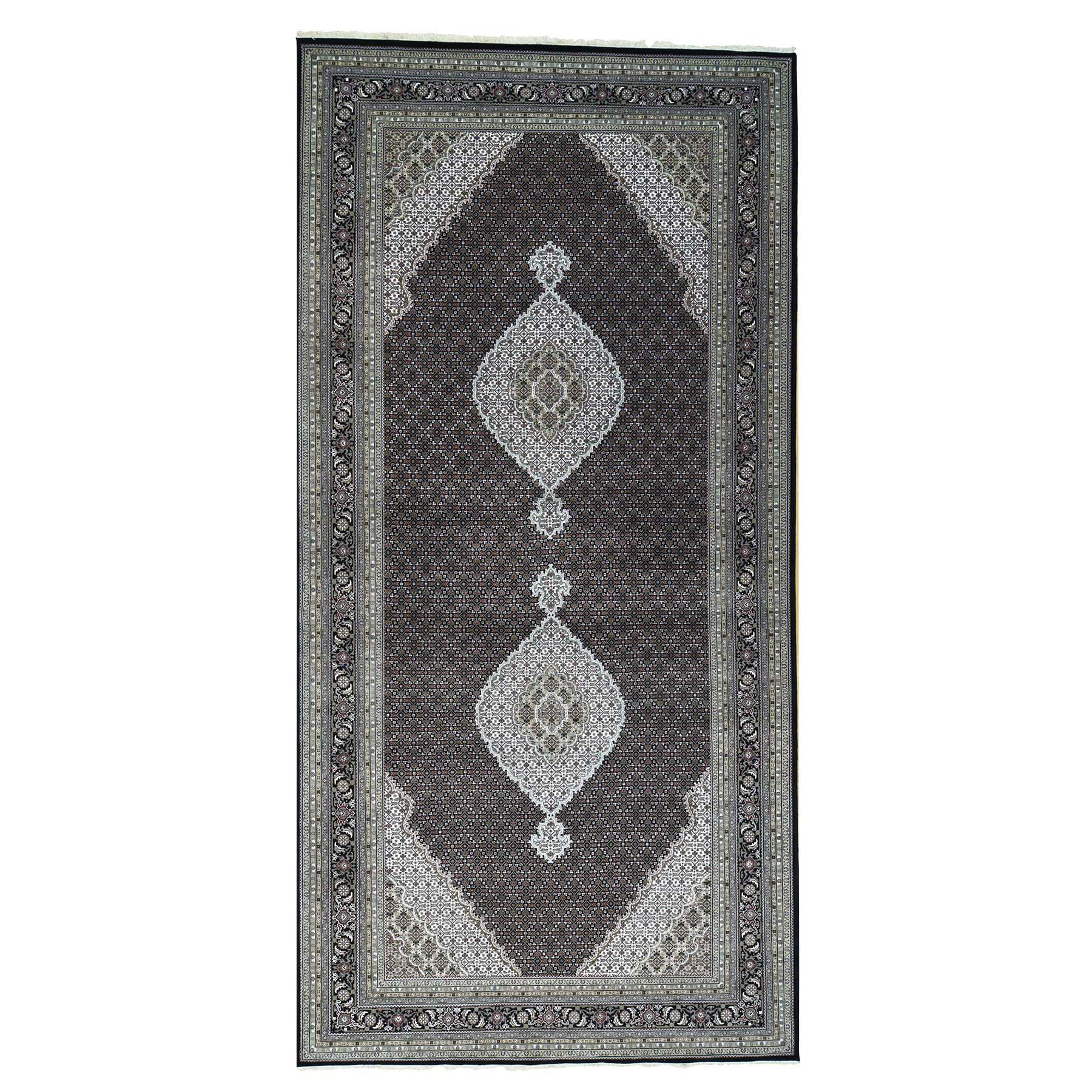 Pirniakan Collection Hand Knotted Black Rug No: 0161942