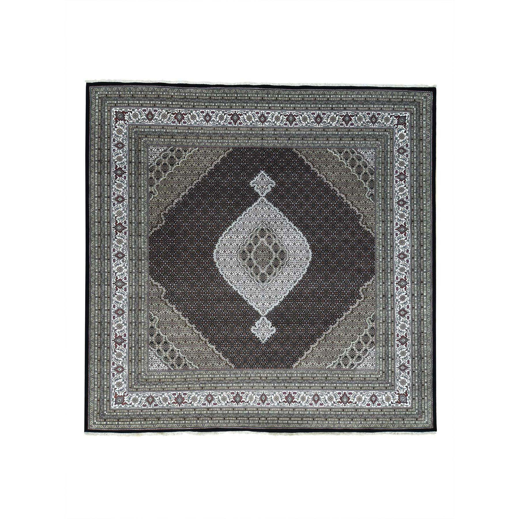 Pirniakan Collection Hand Knotted Black Rug No: 0161954