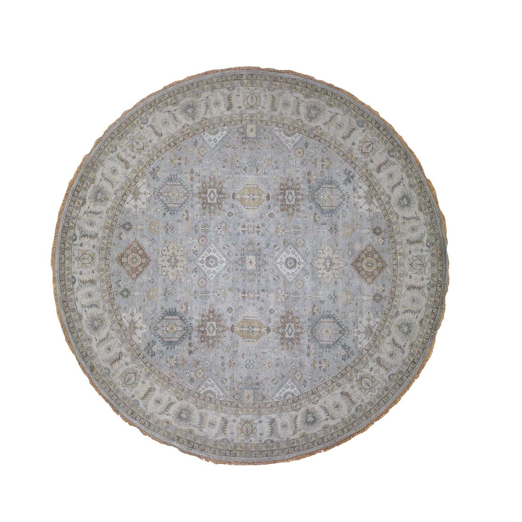 Serapi Heriz and Bakhshayesh Collection Hand Knotted Grey Rug No: 0197758