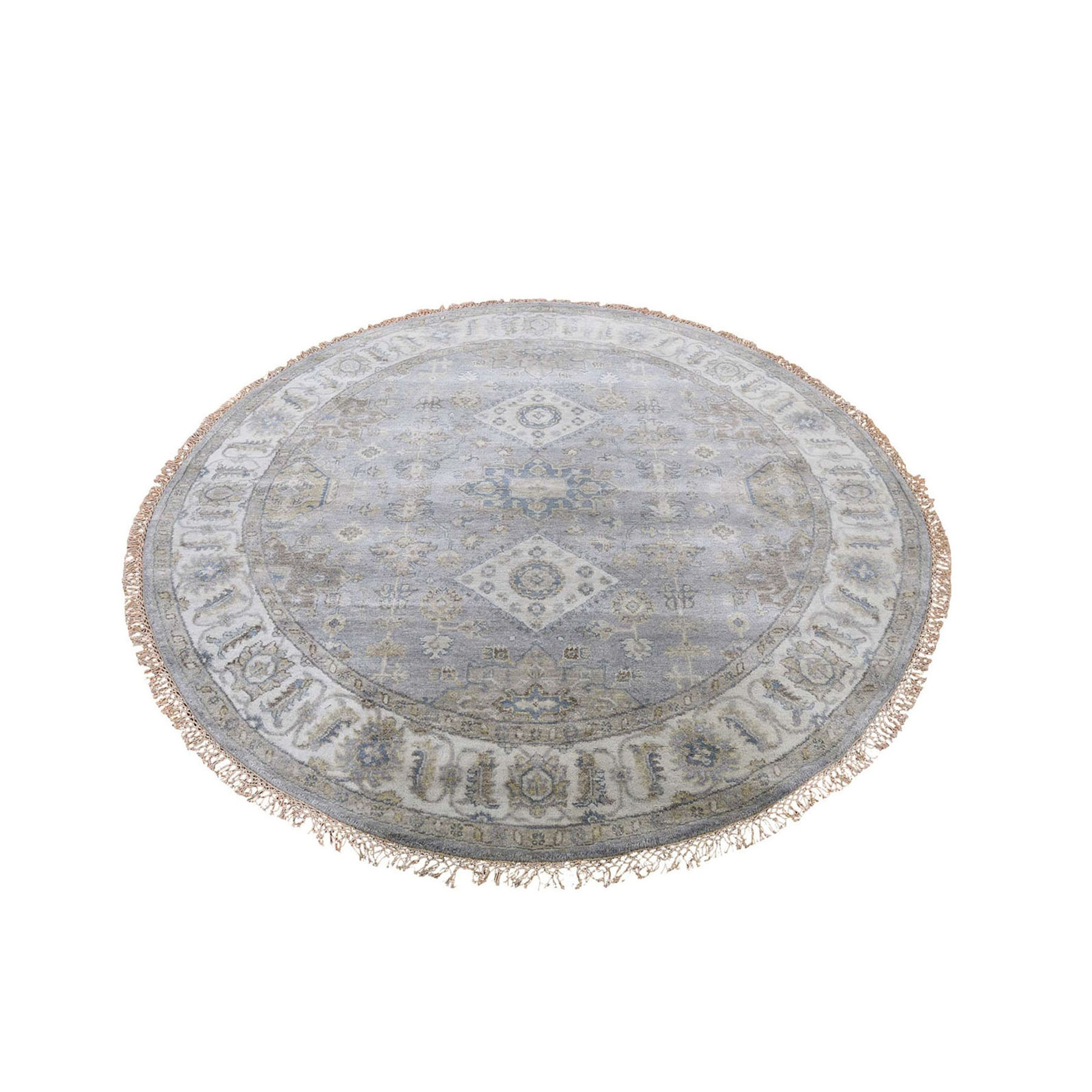 Nomadic And Village Collection Hand Knotted Grey Rug No: 0197802