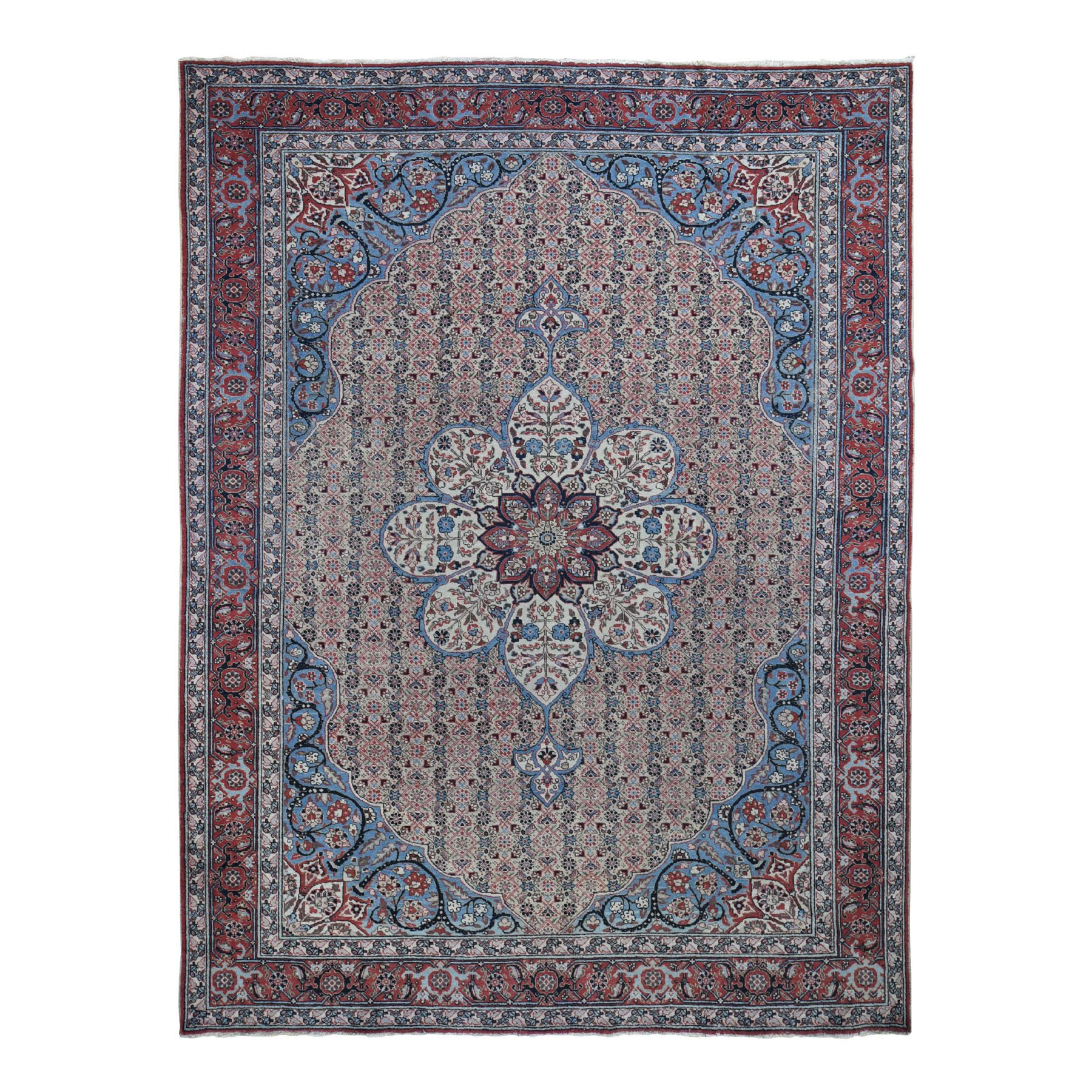 Antique Collection Hand Knotted Ivory Rug No: 196946