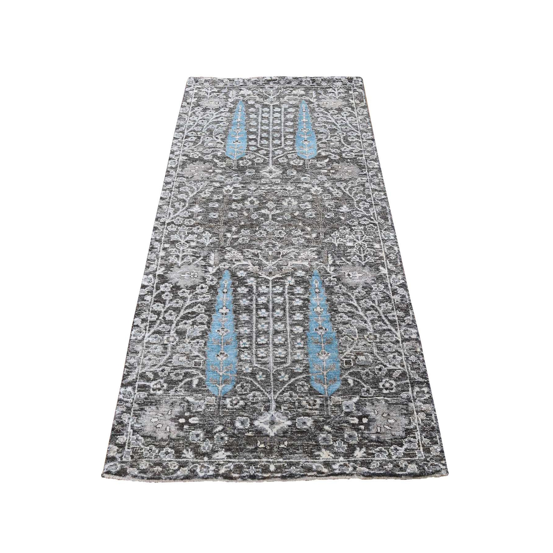 Transitional Hand Knotted Brown Rug No: 0197912