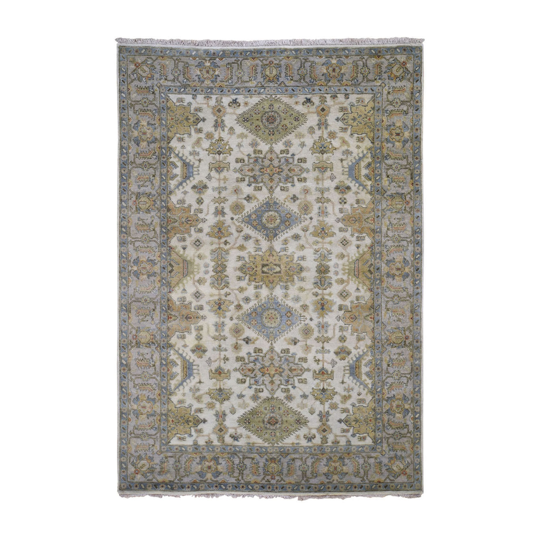 Serapi Heriz and Bakhshayesh Collection Hand Knotted Ivory Rug No: 0197900