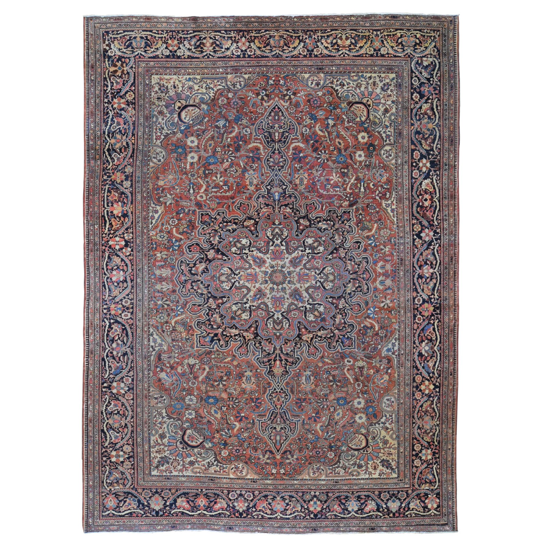 Classic Persian Collection Hand Knotted Red Rug No: 0197898