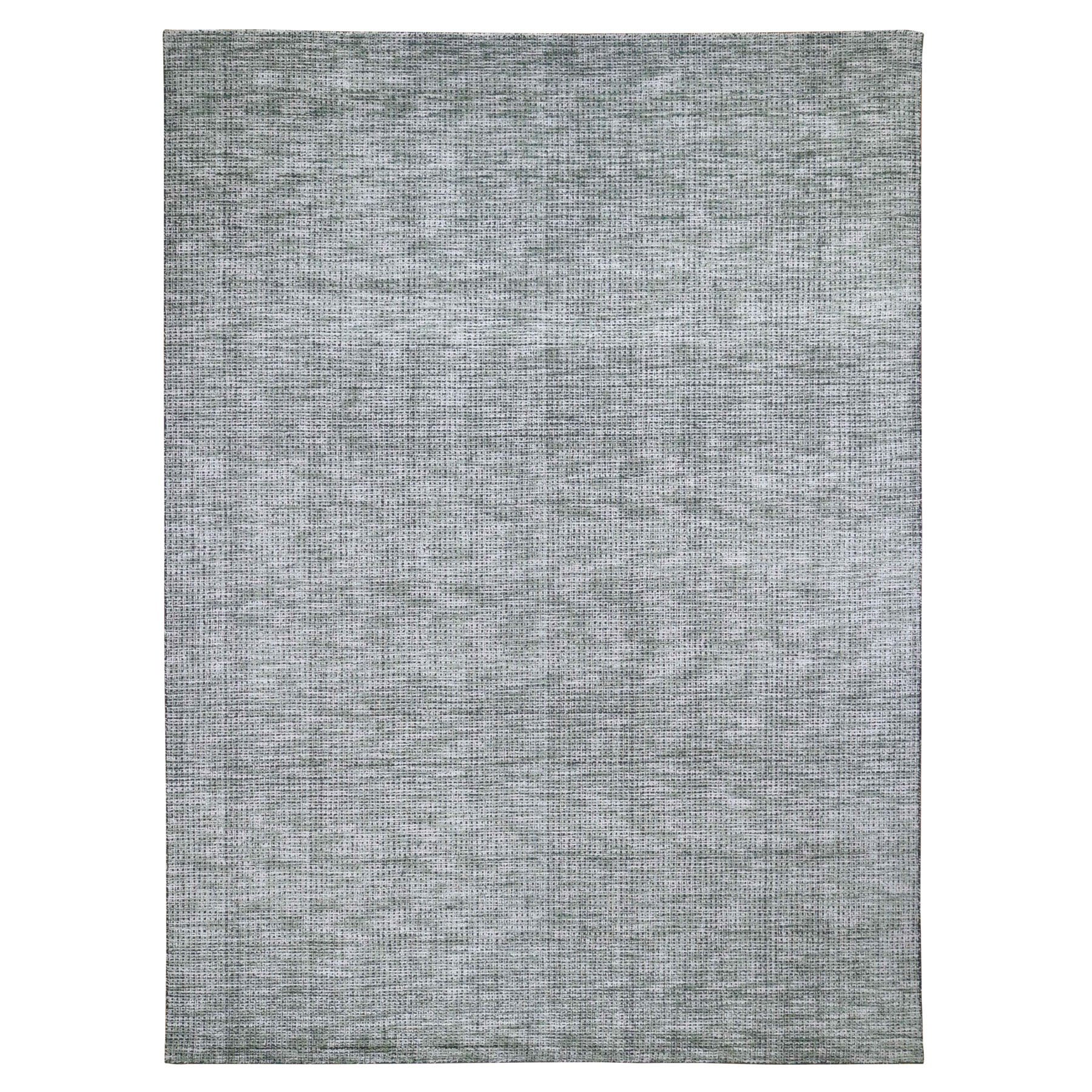 Mid Century Modern Collection Hand Loomed Ivory Rug No: 0197928