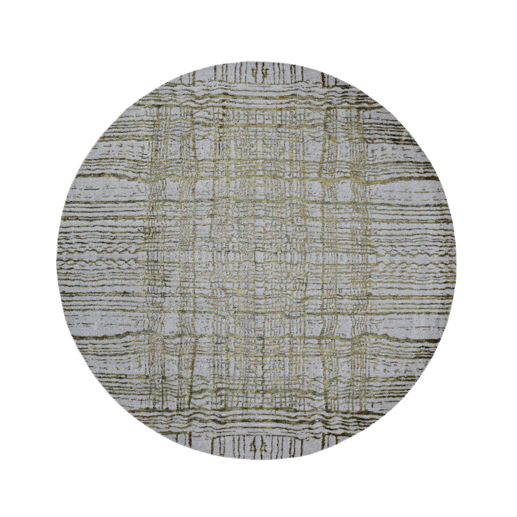 Mid Century Modern Collection Hand Loomed Grey Rug No: 0197960