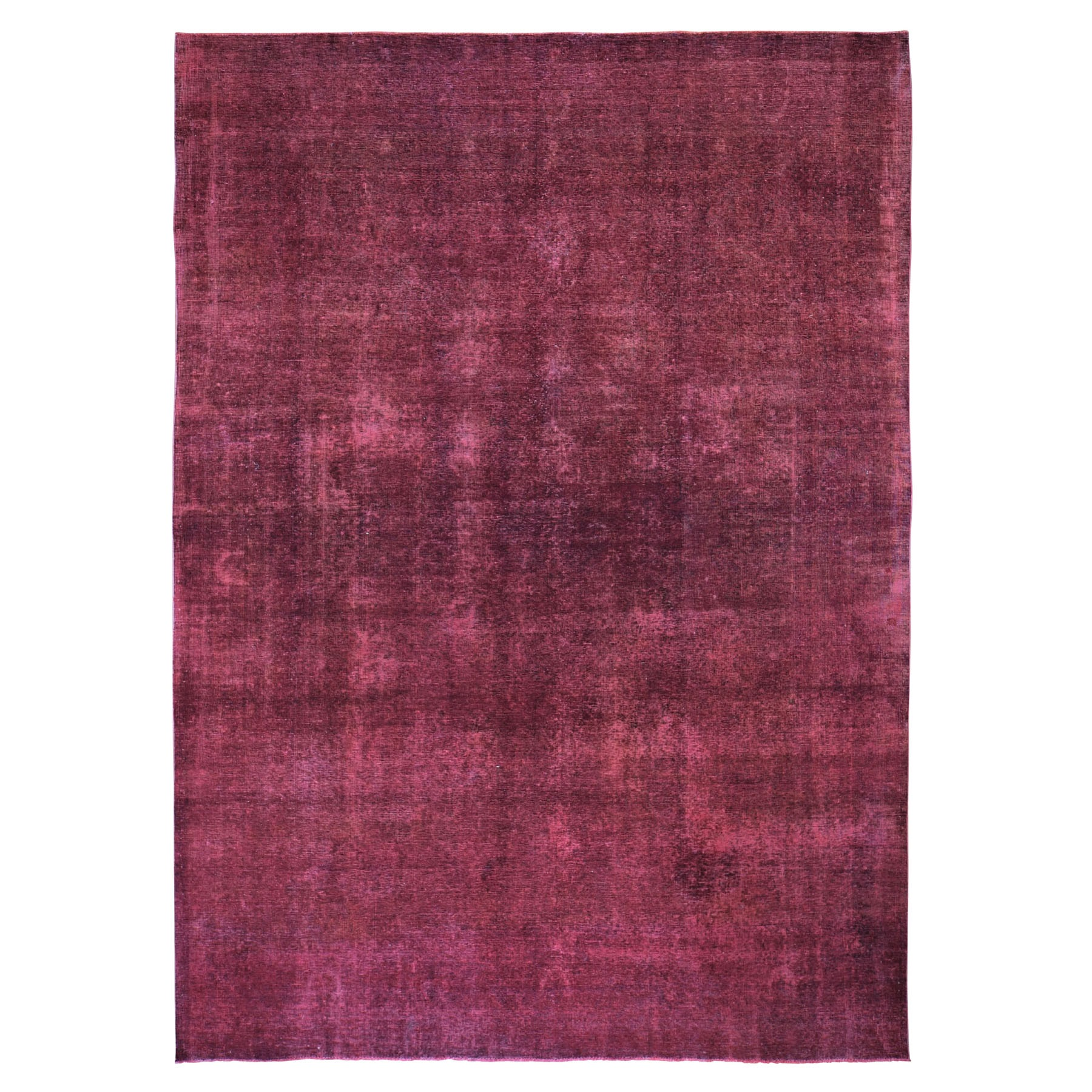 Fetneh Collection And Vintage Overdyed Collection Hand Knotted Red Rug No: 0197974