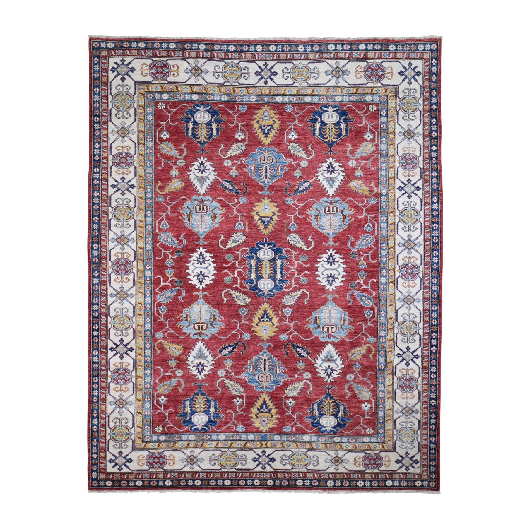 Caucasian Collection Hand Knotted Red Rug No: 0197982