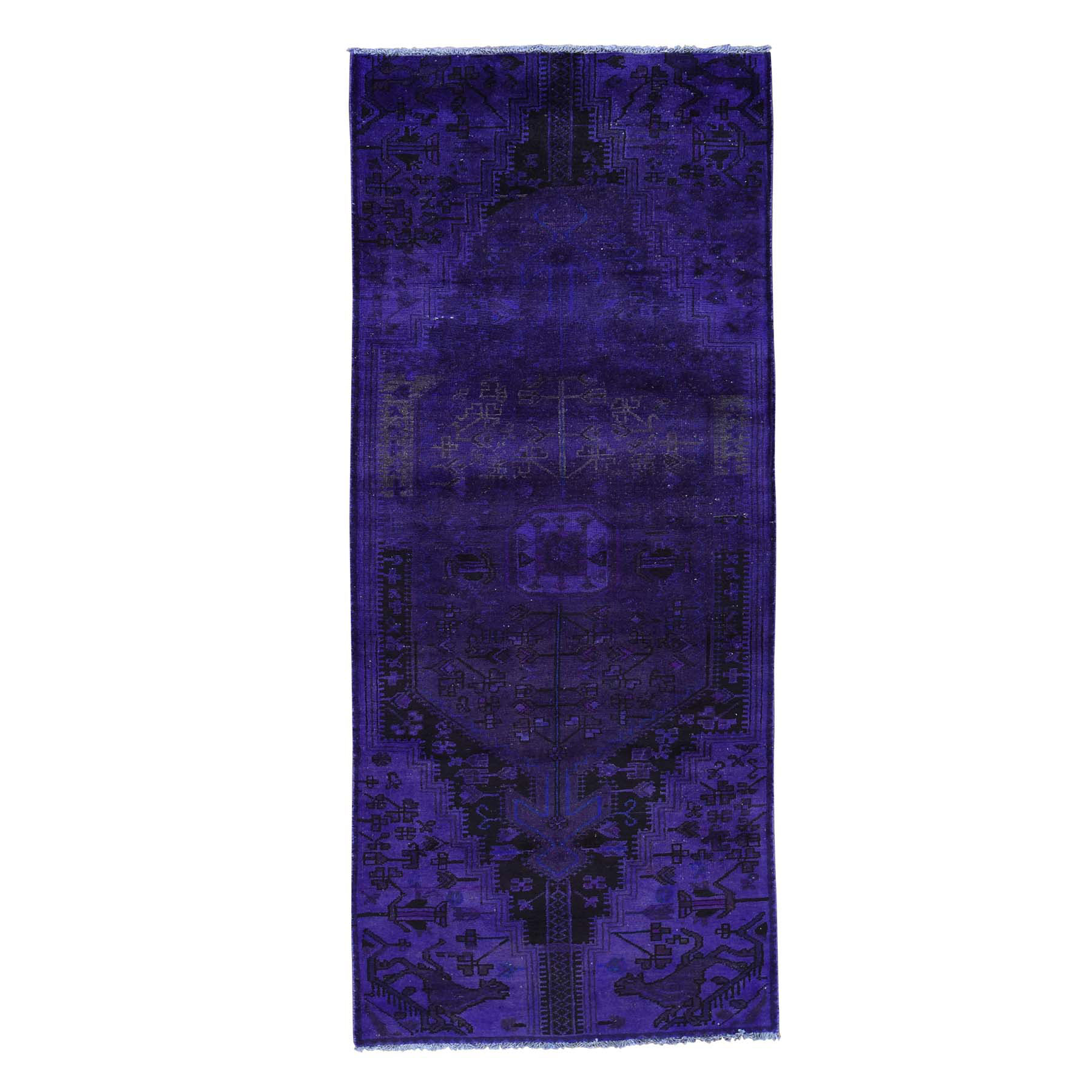Fetneh Collection And Vintage Overdyed Collection Hand Knotted Purple Rug No: 0162284