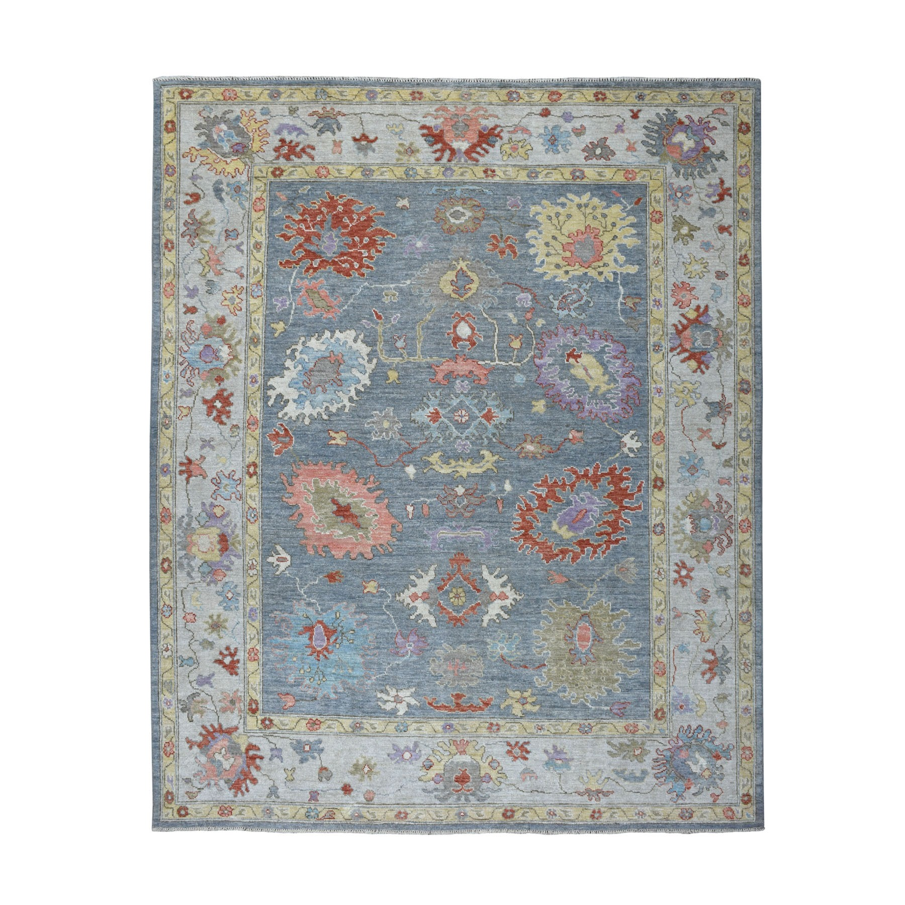 Agra And Turkish Collection Hand Knotted Grey Rug No: 1108746