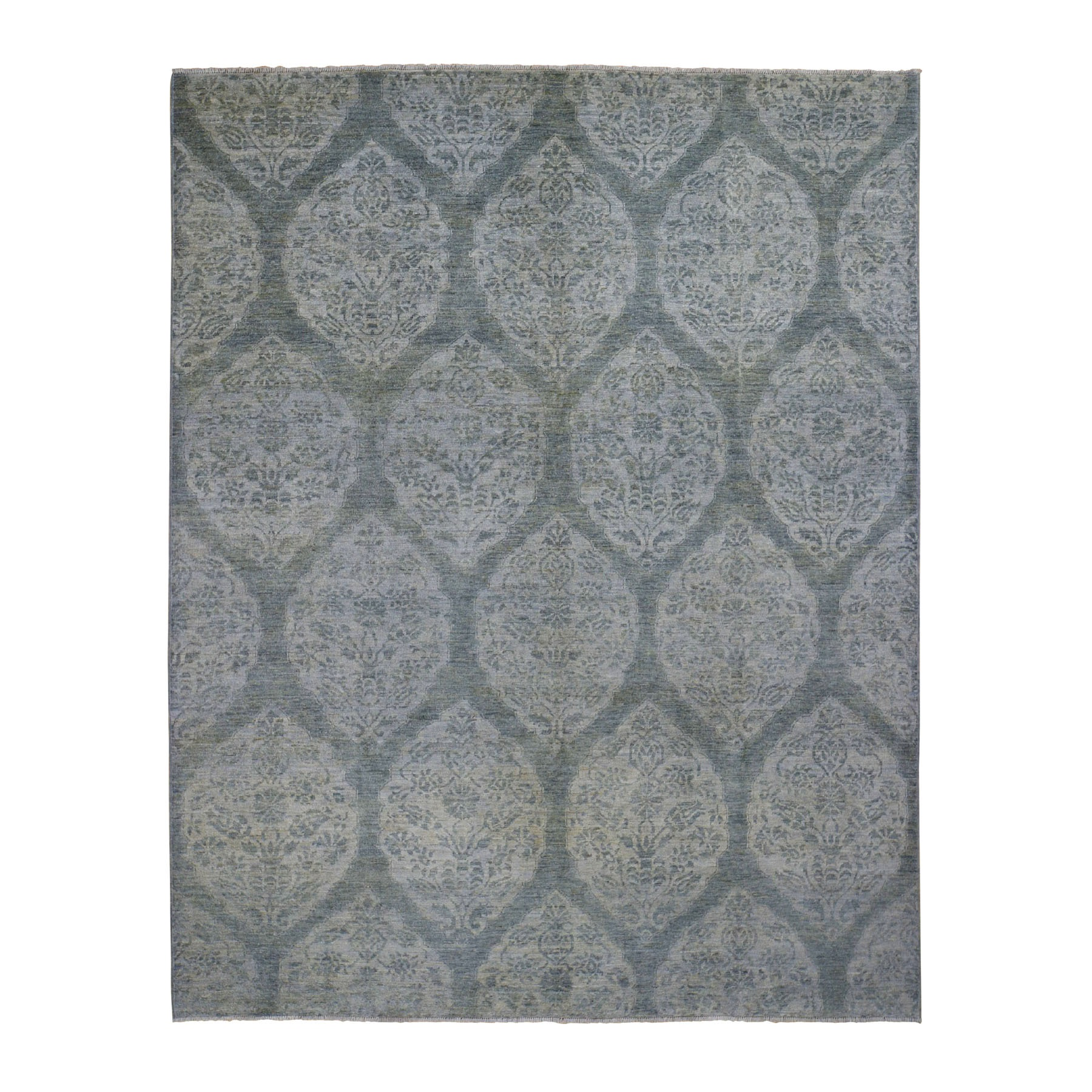 Agra And Turkish Collection Hand Knotted Grey Rug No: 0198058