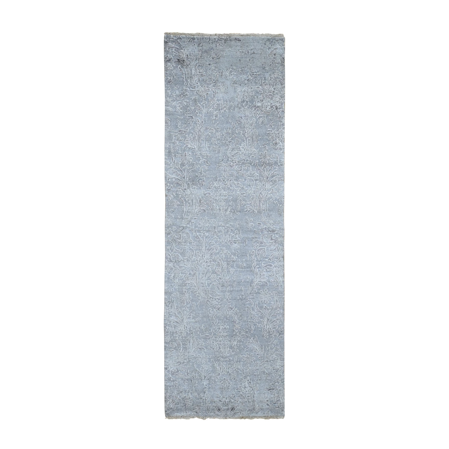 Transitional Hand Knotted Grey Rug No: 0198086