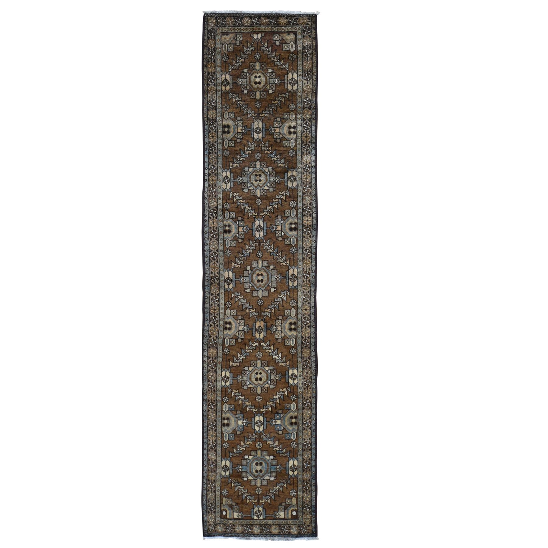 Antique Collection Hand Knotted Brown Rug No: 0198096