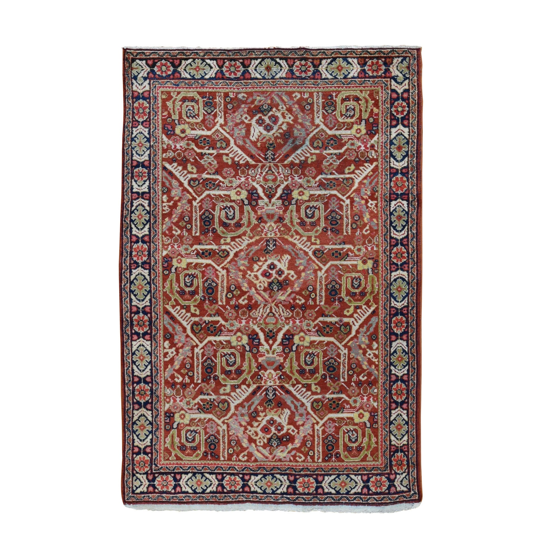 Antique Collection Hand Knotted Red Rug No: 0198108