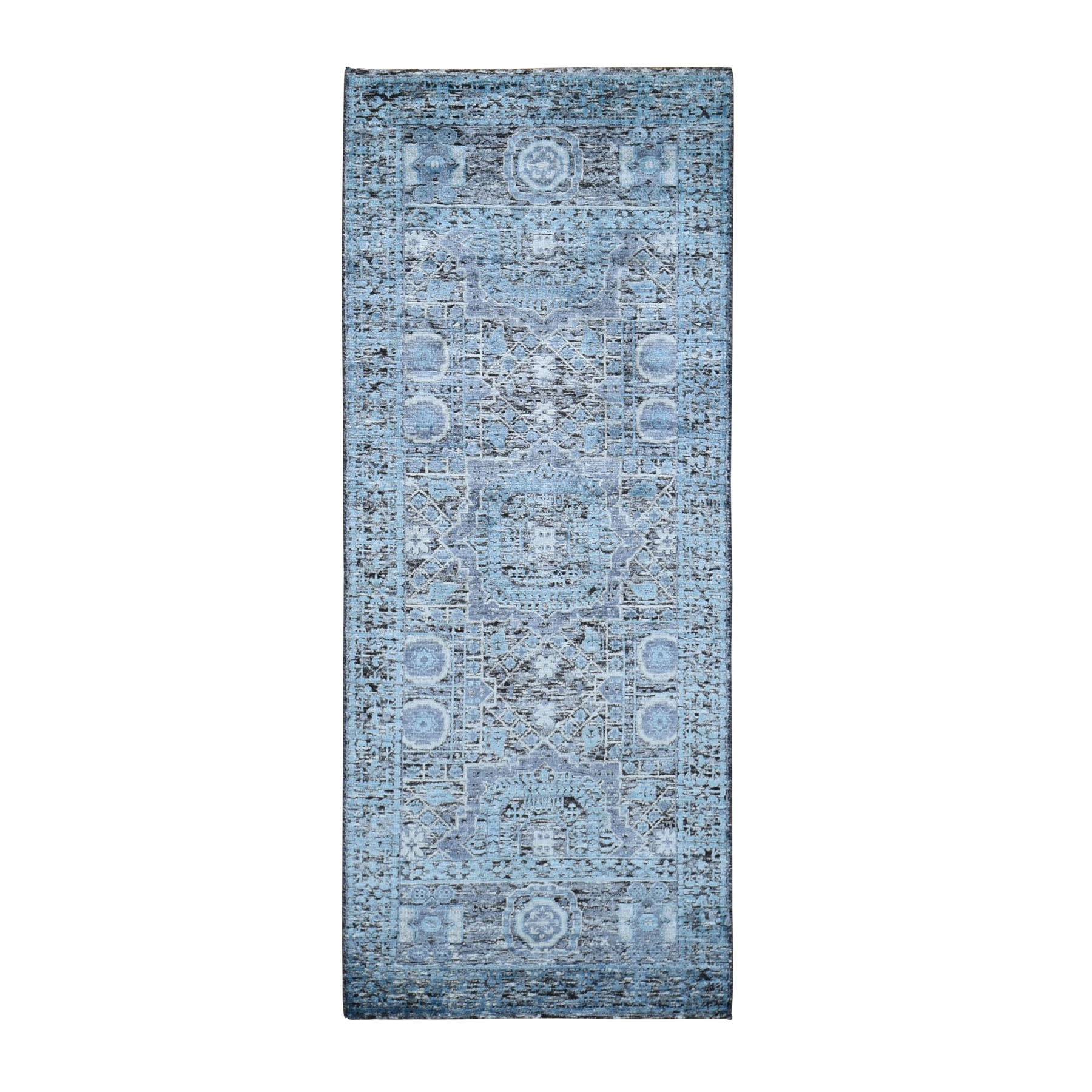 Intricate Collection Hand Knotted Black Rug No: 0198140