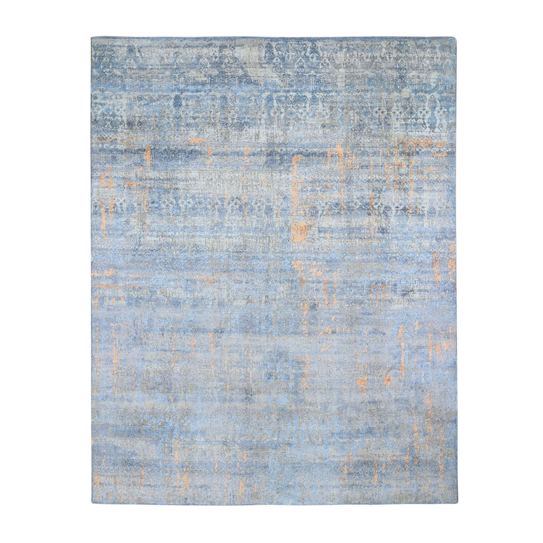 Mid Century Modern Collection Hand Knotted Grey Rug No: 0198152