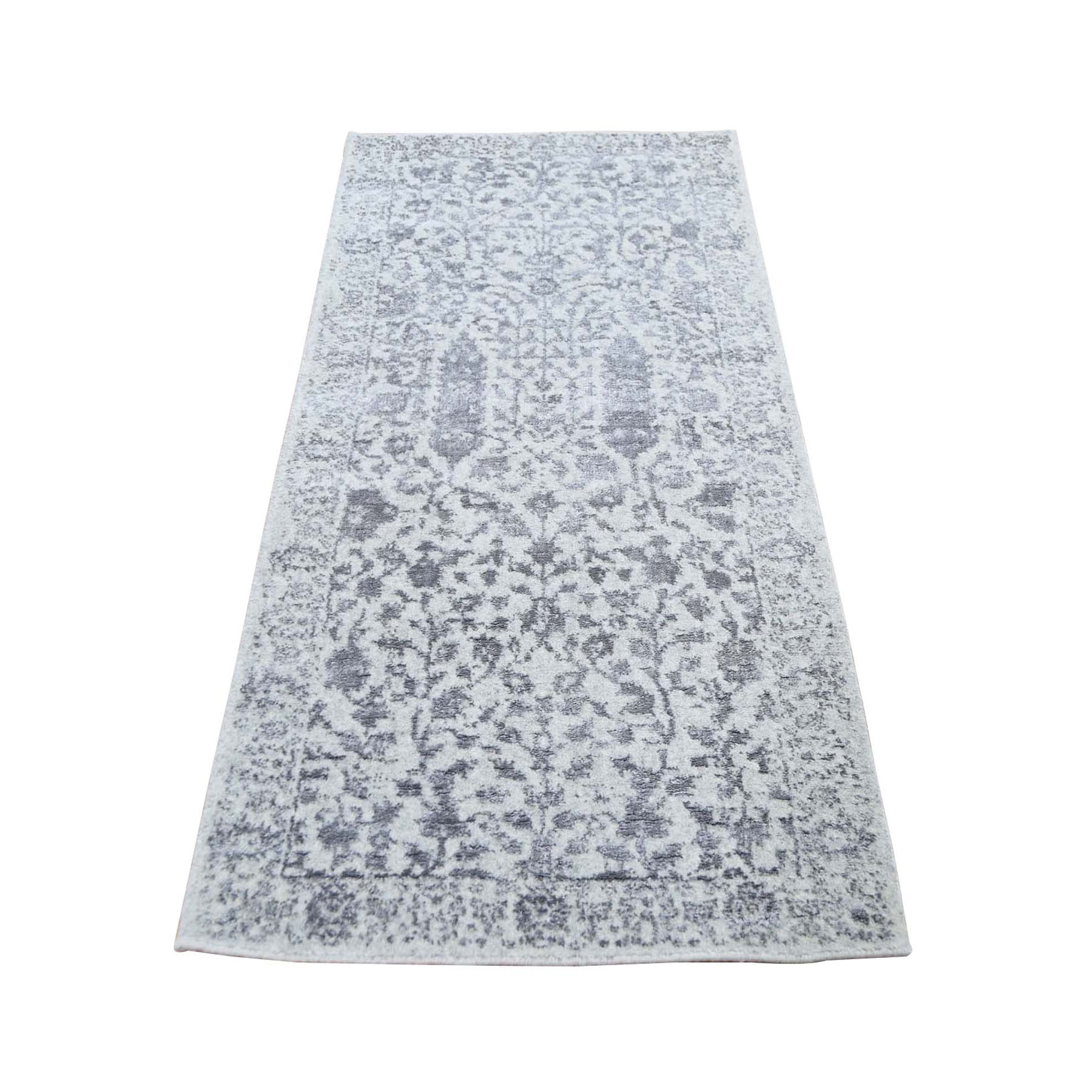 Modern Collection Hand Loomed Grey Rug No: 0198220