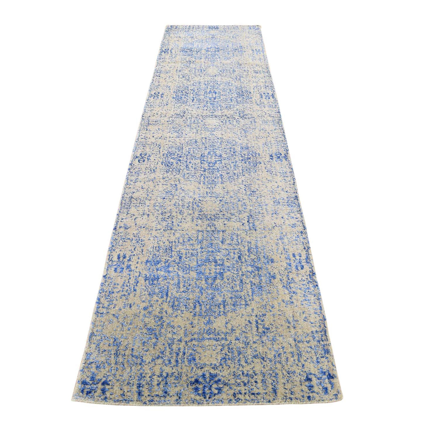 Intricate Collection Hand Loomed Blue Rug No: 0198222