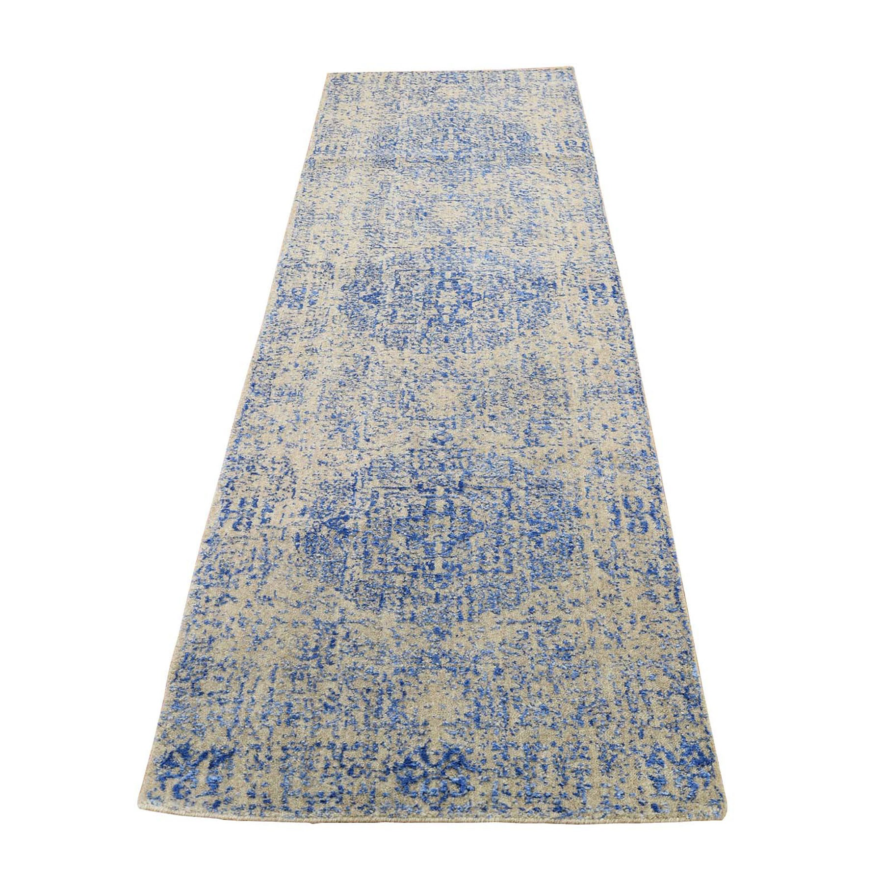 Intricate Collection Hand Loomed Blue Rug No: 0198226