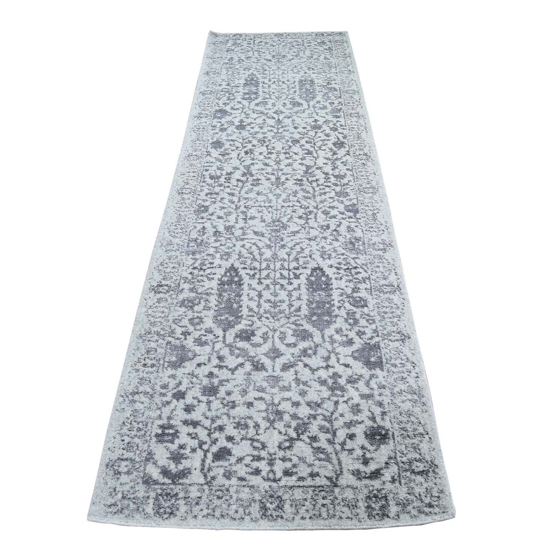 Modern Collection Hand Loomed Grey Rug No: 0198246