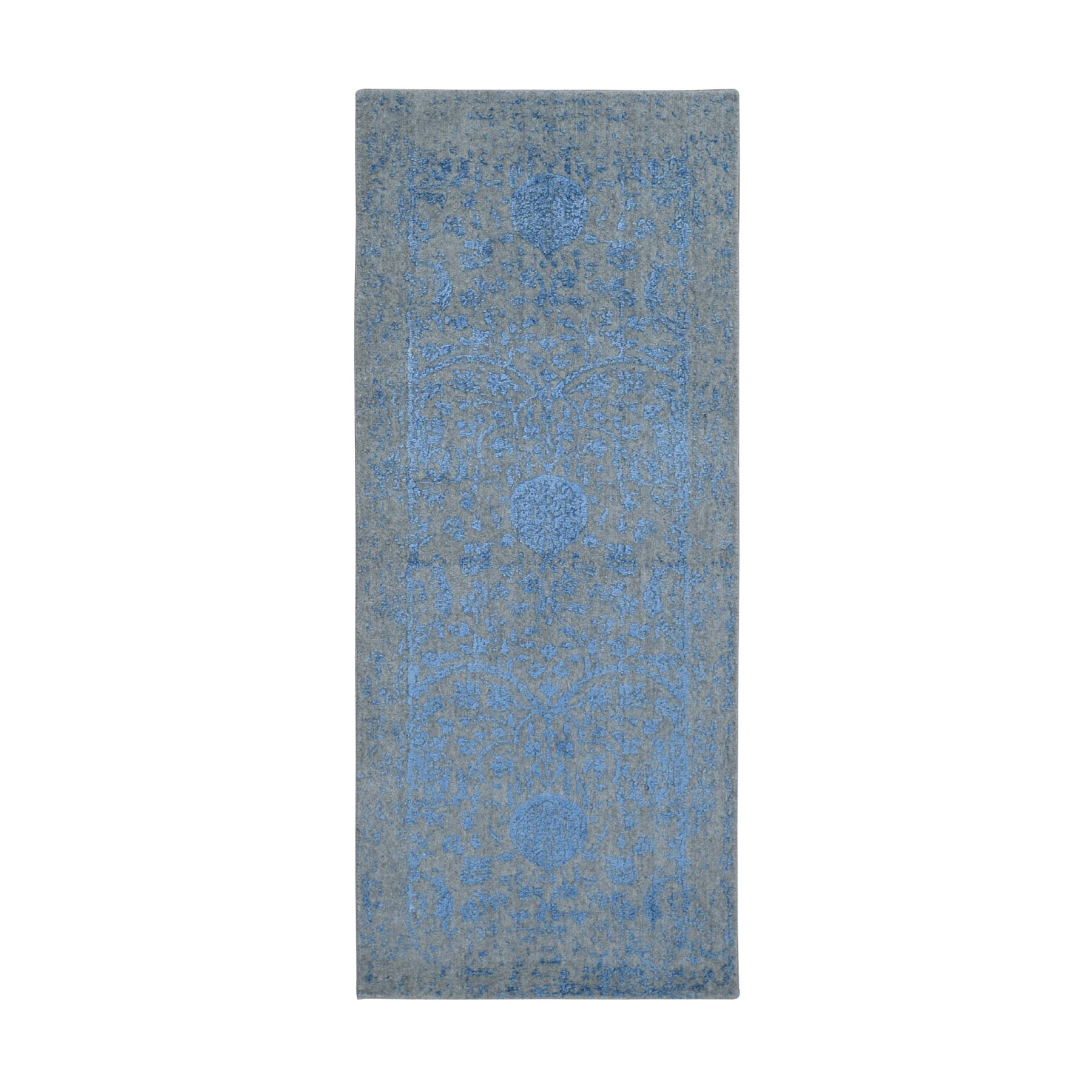 Mid Century Modern Collection Hand Loomed Grey Rug No: 0198264