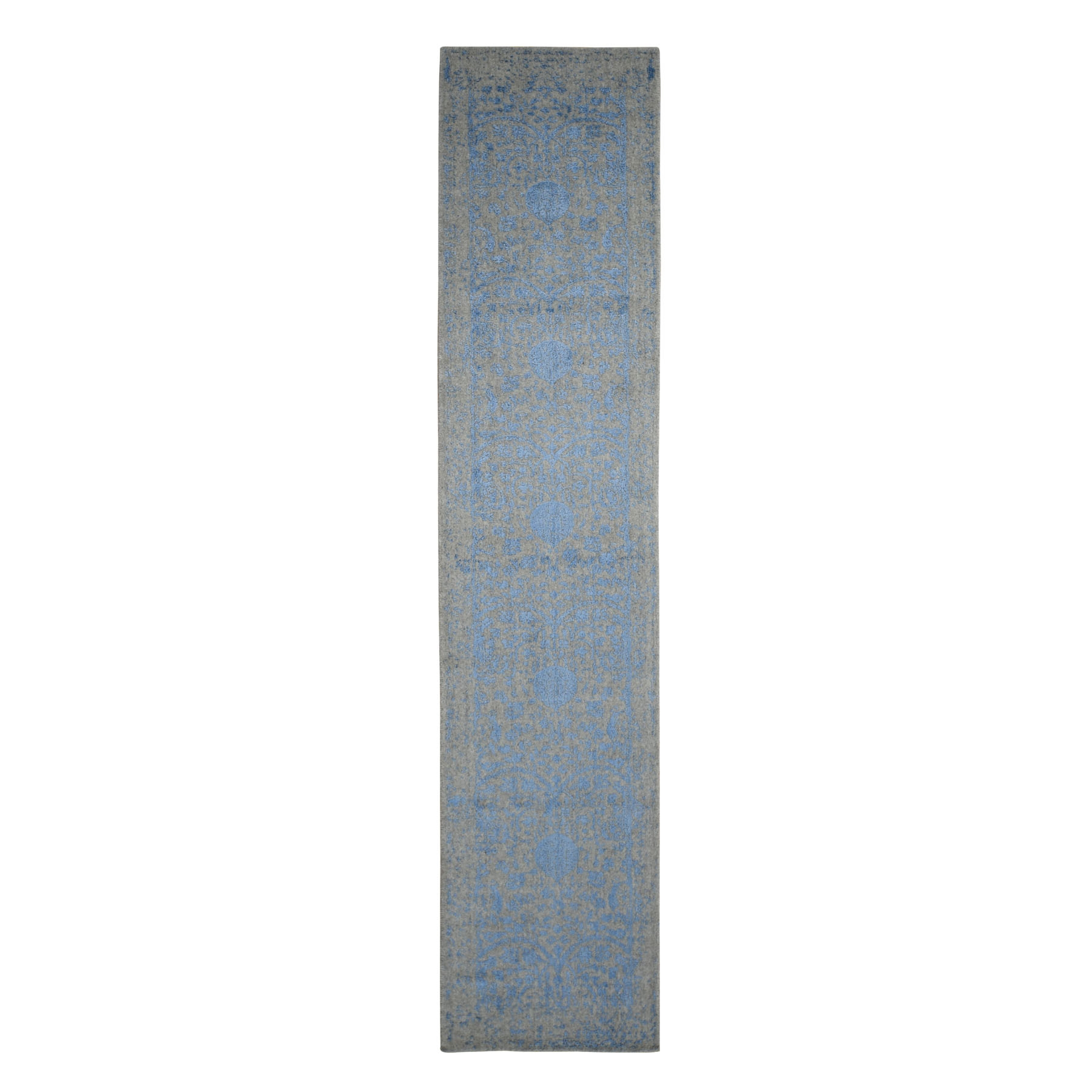 Mid Century Modern Collection Hand Loomed Grey Rug No: 0198338