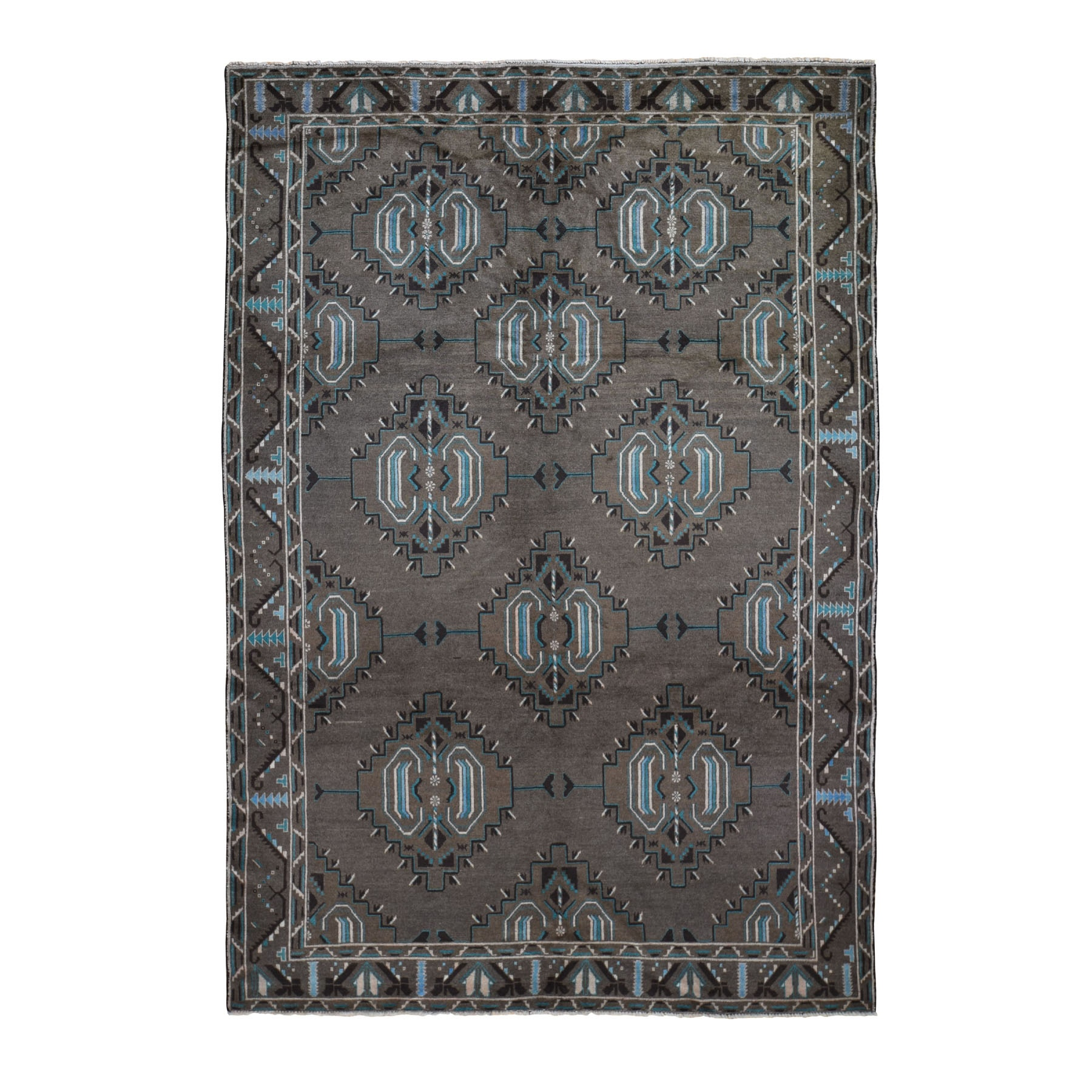 Nomadic And Village Collection Hand Knotted Brown Rug No: 0198352