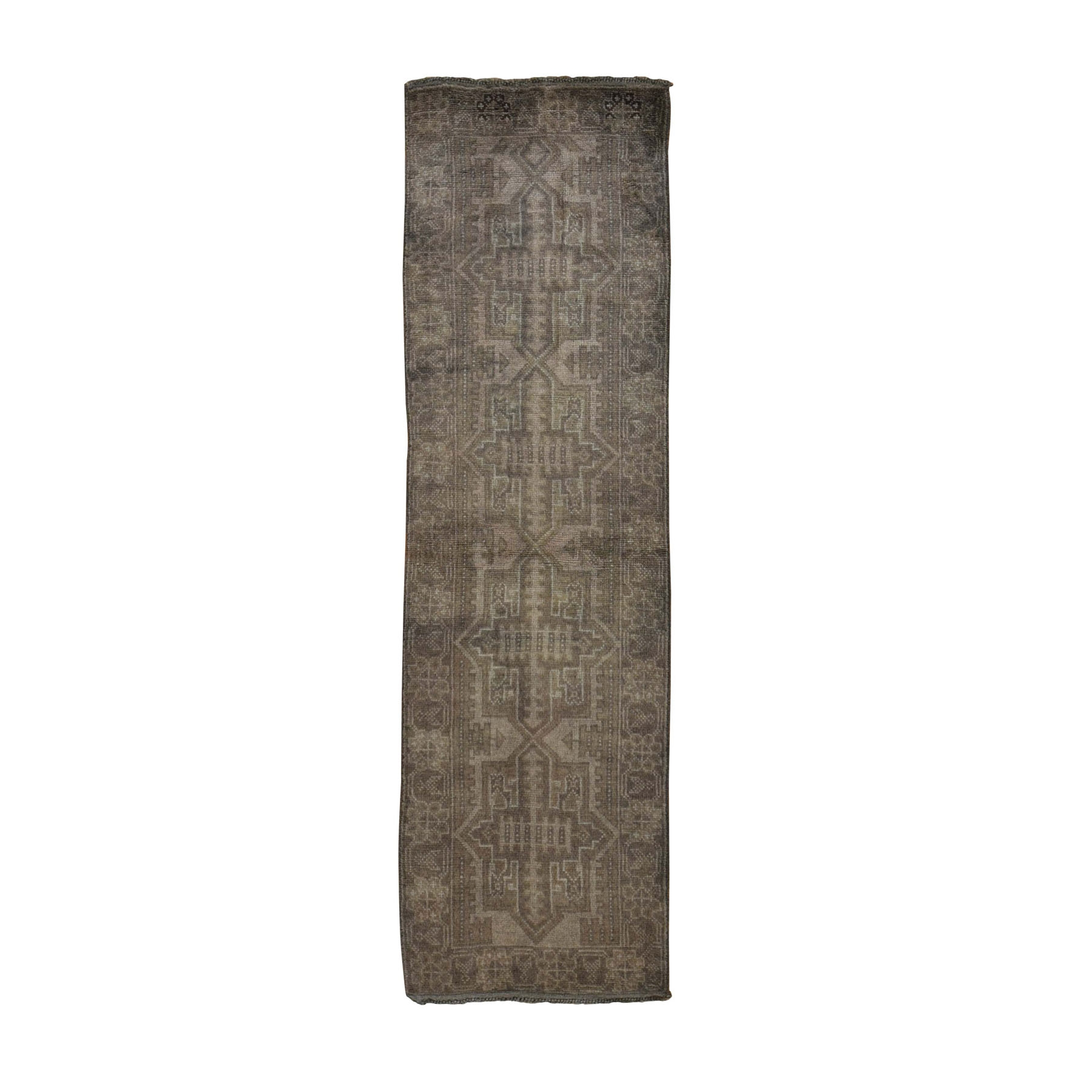 Nomadic And Village Collection Hand Knotted Brown Rug No: 0198390
