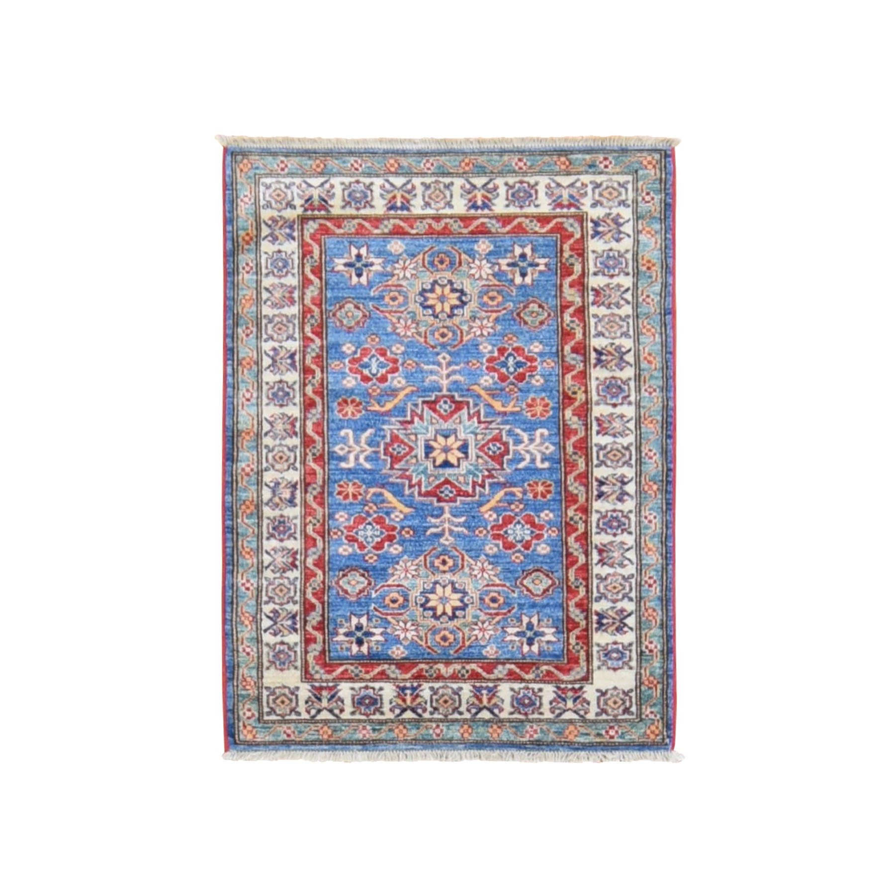Caucasian Collection Hand Knotted Blue Rug No: 0198474