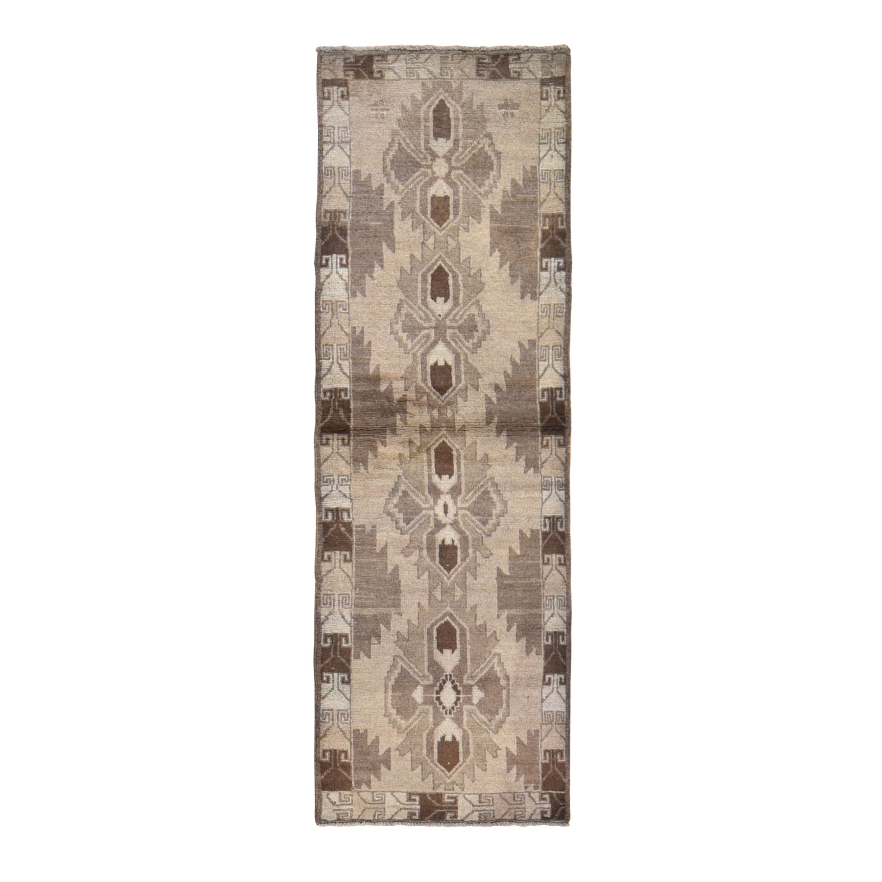 Nomadic And Village Collection Hand Knotted Brown Rug No: 0198514