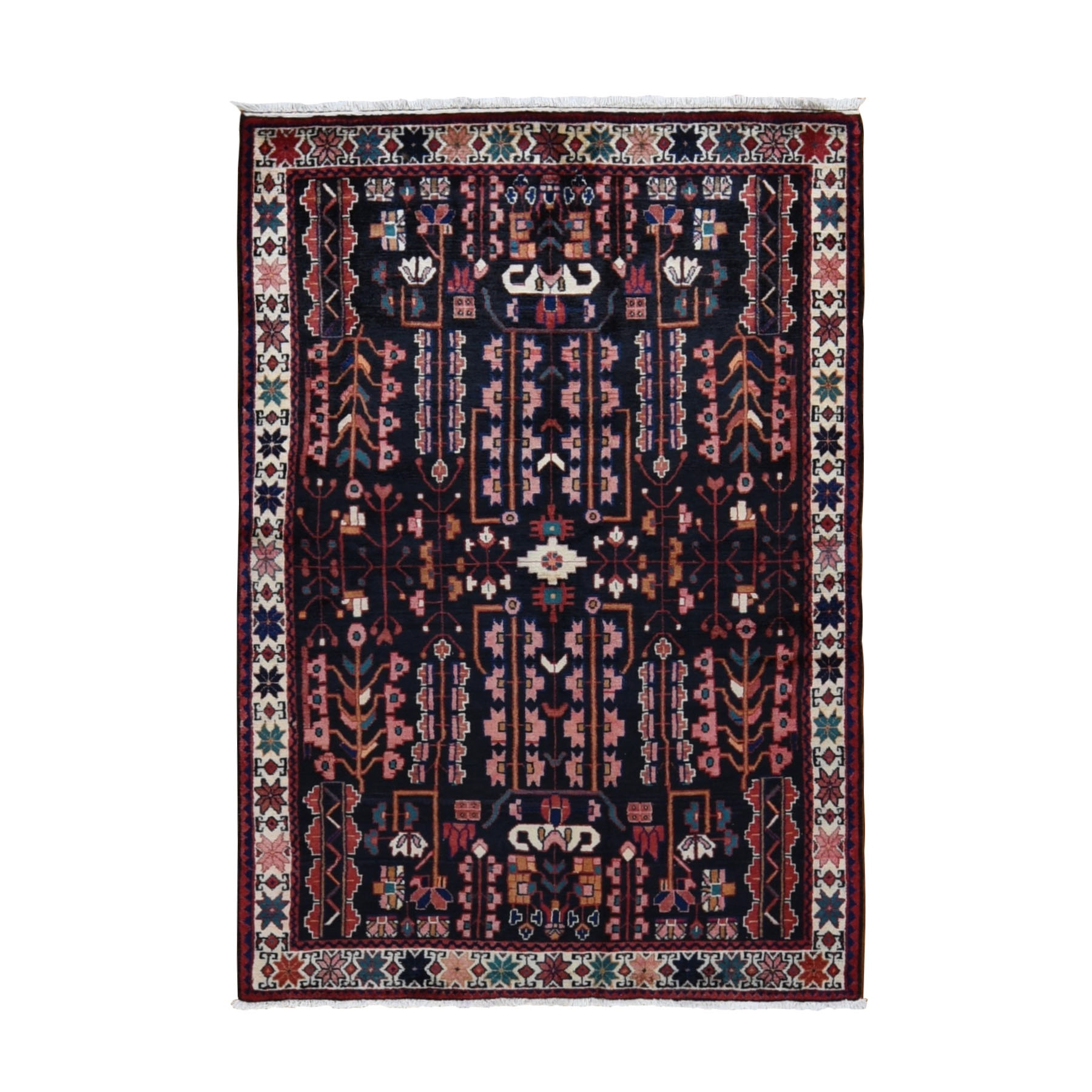 Classic Persian Collection Hand Knotted Black Rug No: 0198492