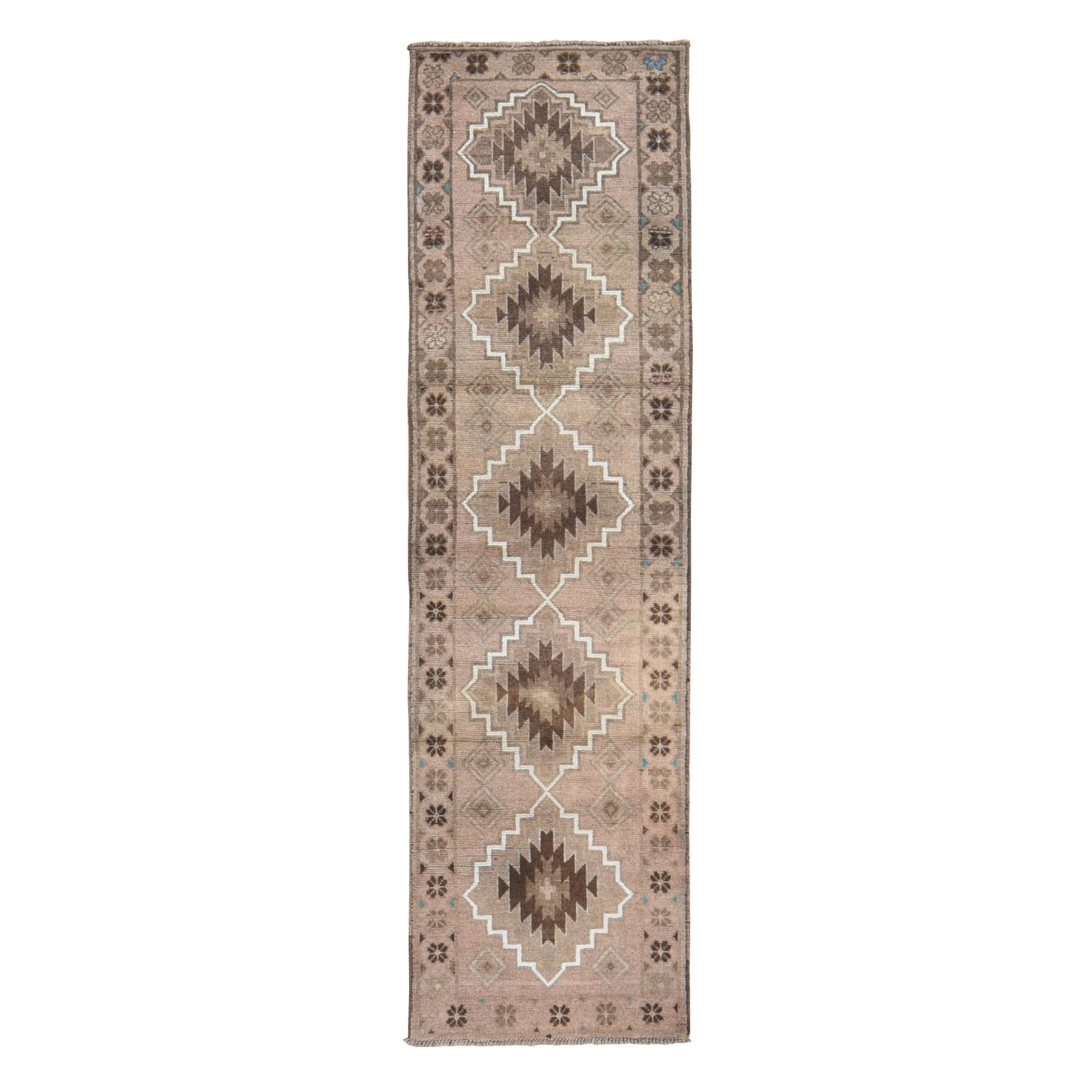 Nomadic And Village Collection Hand Knotted Brown Rug No: 0198522
